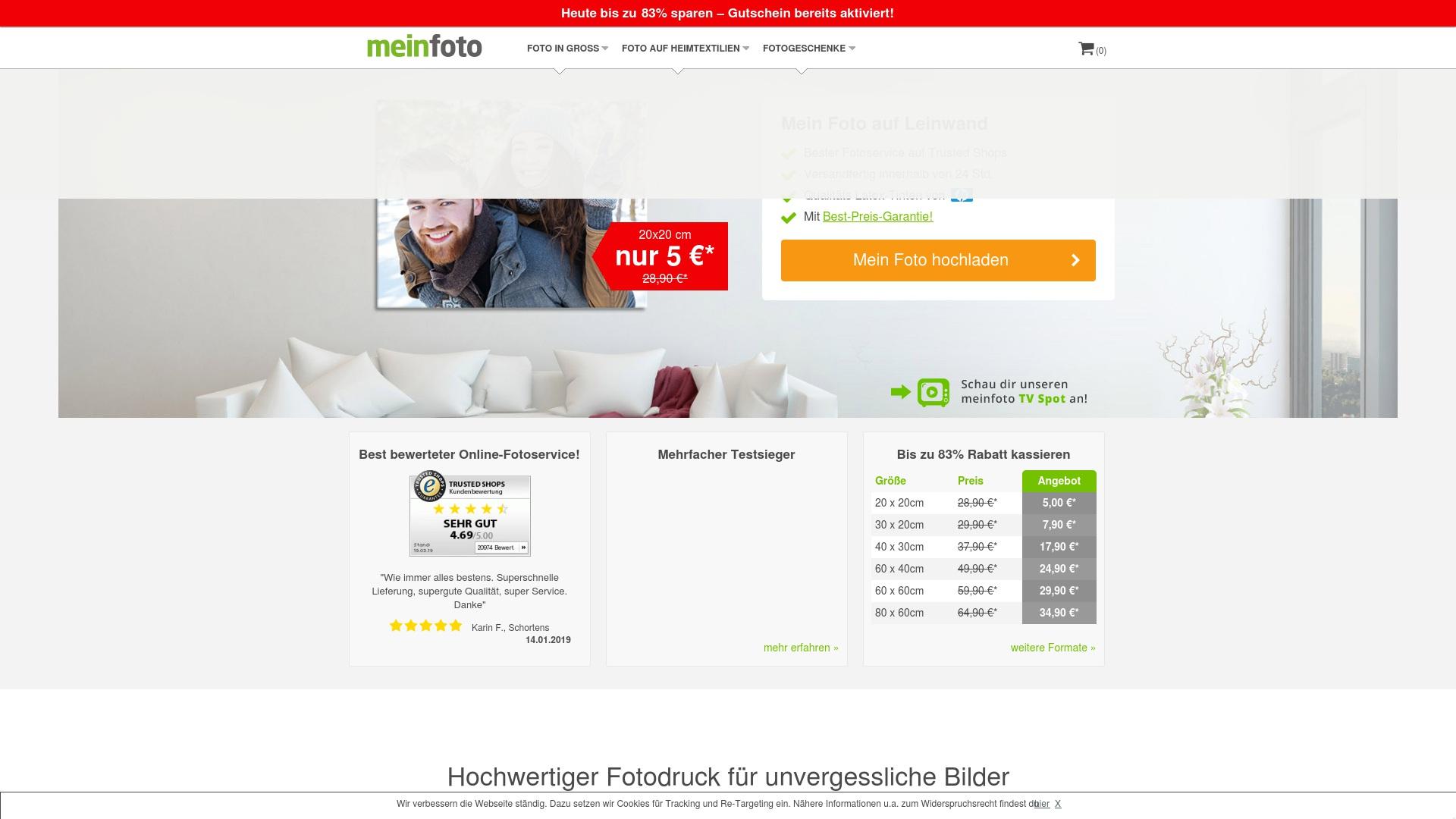 Gutschein für Meinfoto: Rabatte für  Meinfoto sichern