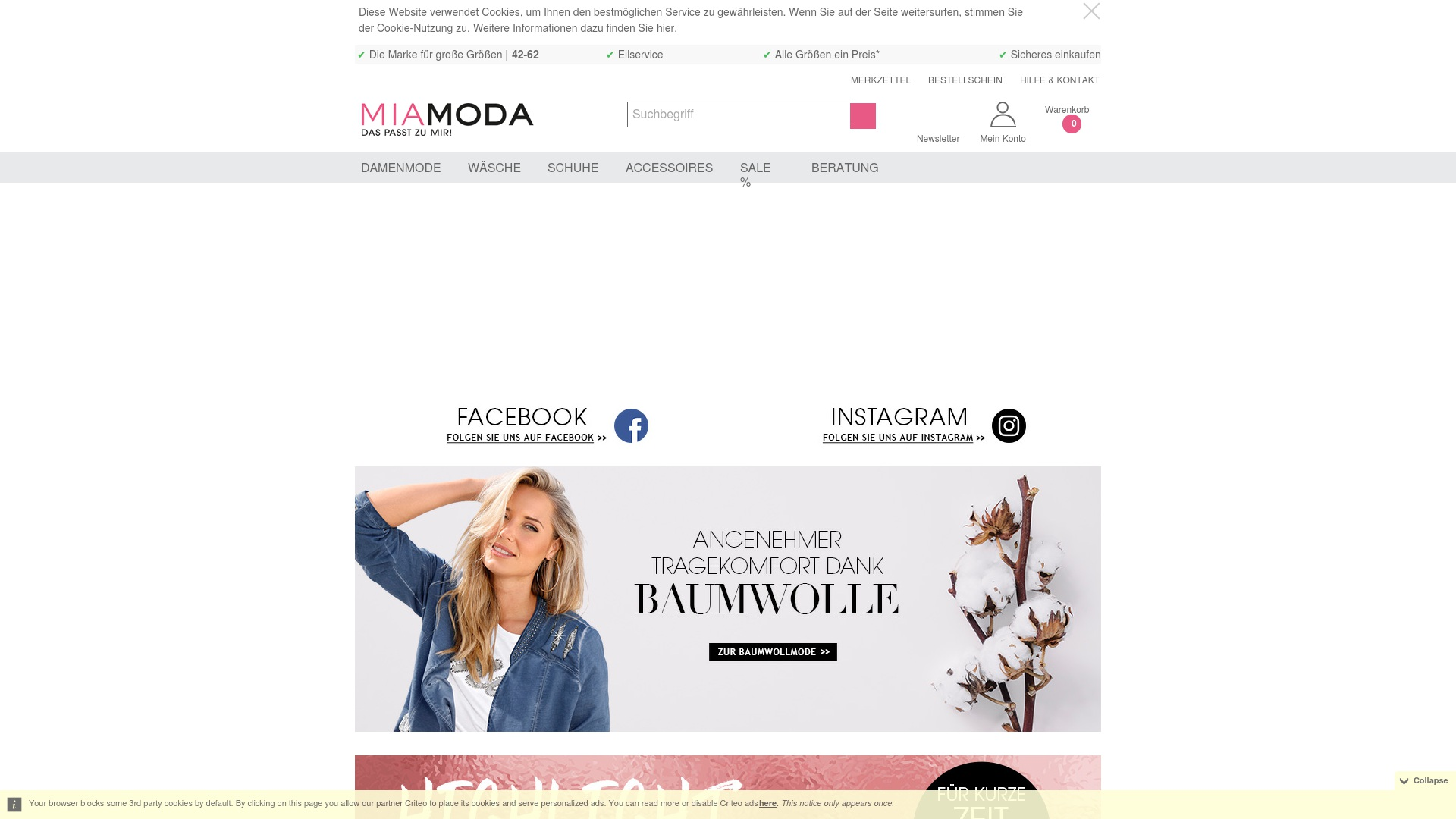 Gutschein für Mia-moda: Rabatte für  Mia-moda sichern