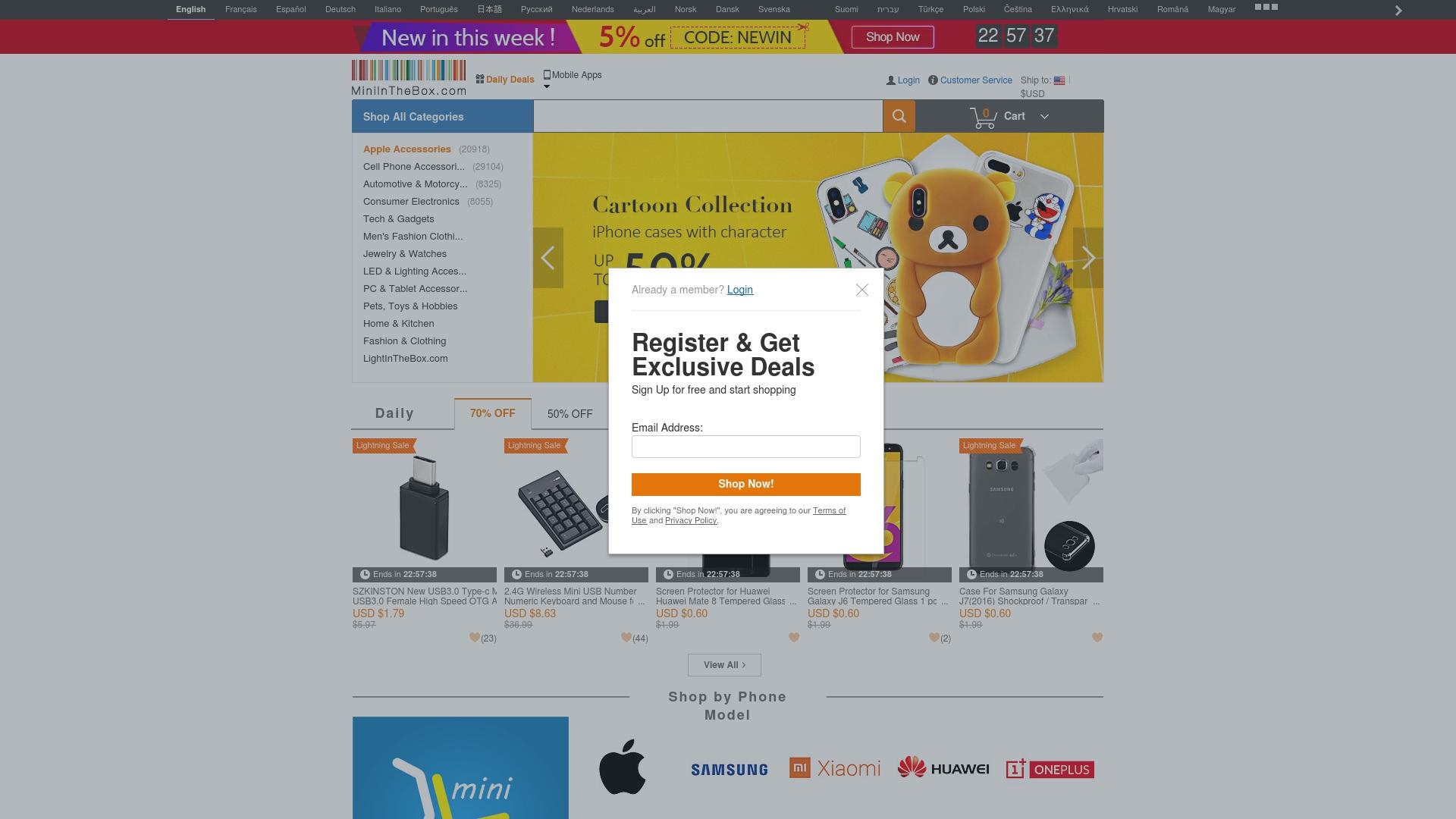 Gutschein für Miniinthebox: Rabatte für  Miniinthebox sichern