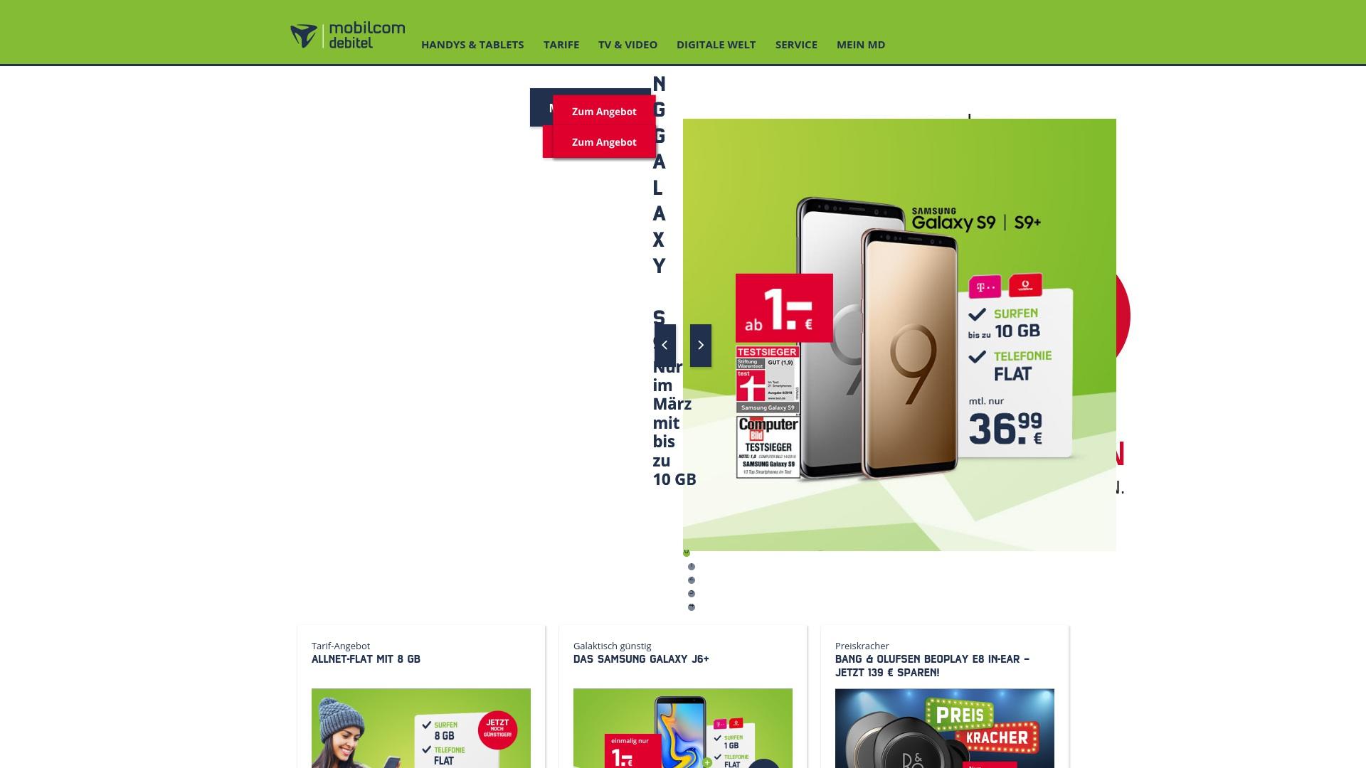 Gutschein für Mobilcom-debitel: Rabatte für  Mobilcom-debitel sichern