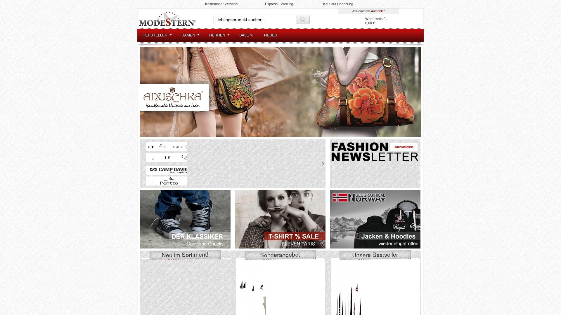Gutschein für Modestern: Rabatte für  Modestern sichern