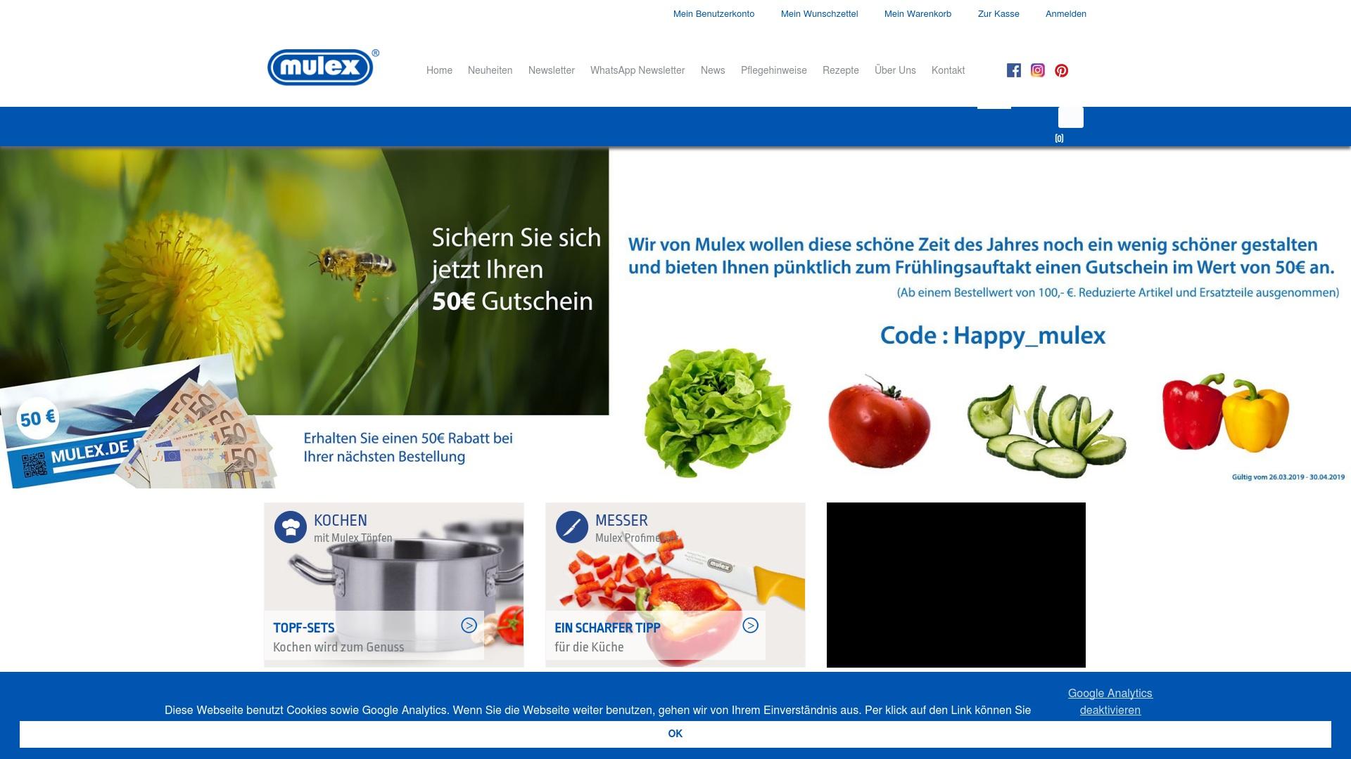 Gutschein für Mulex: Rabatte für  Mulex sichern