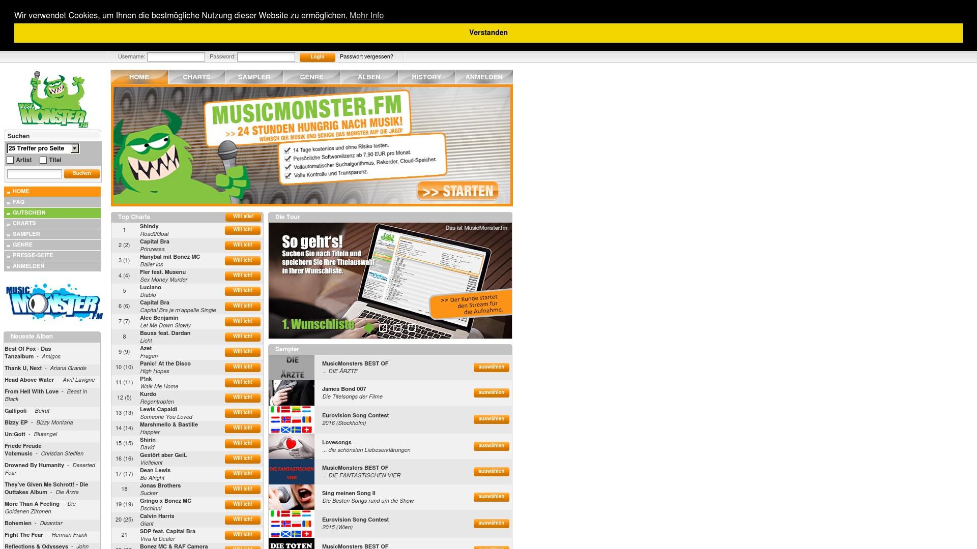 Gutschein für Musicmonster: Rabatte für  Musicmonster sichern
