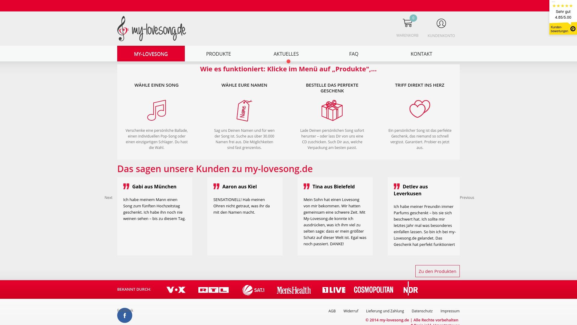 Gutschein für My-lovesong: Rabatte für  My-lovesong sichern