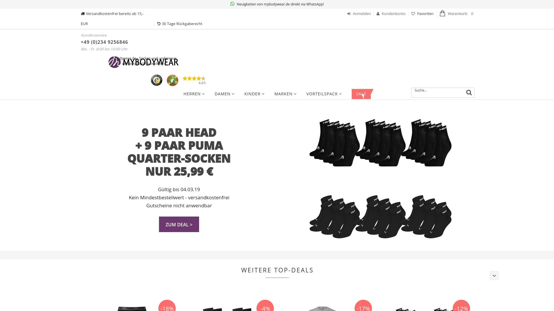 Gutschein für Mybodywear: Rabatte für  Mybodywear sichern