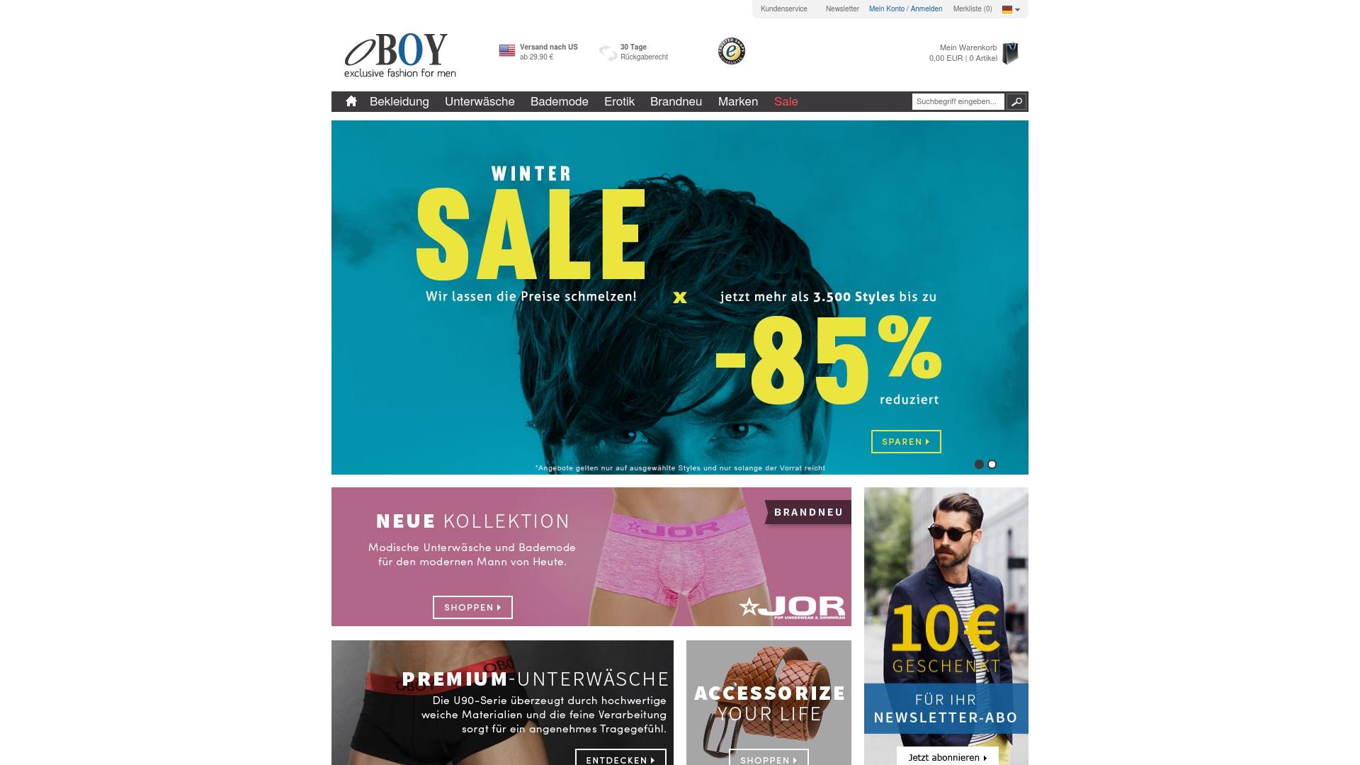 Gutschein für Oboy: Rabatte für  Oboy sichern