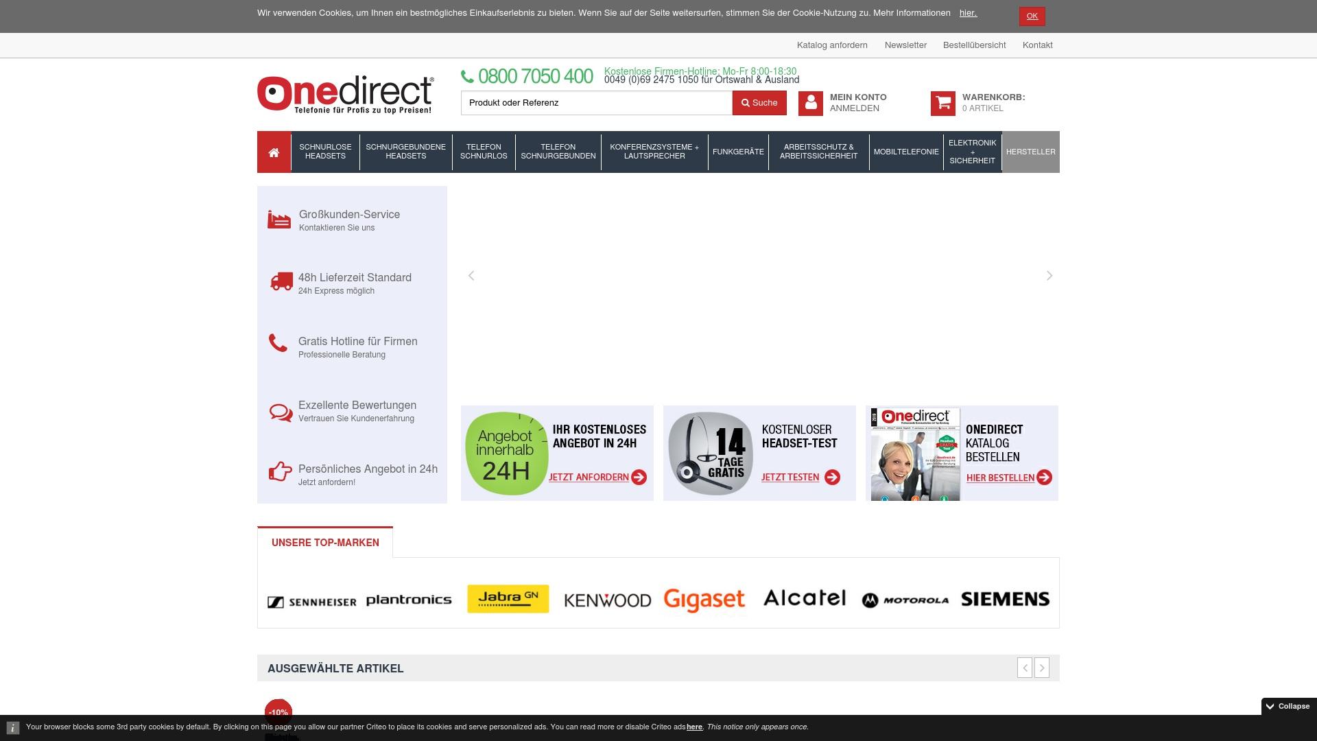 Gutschein für Onedirect: Rabatte für  Onedirect sichern