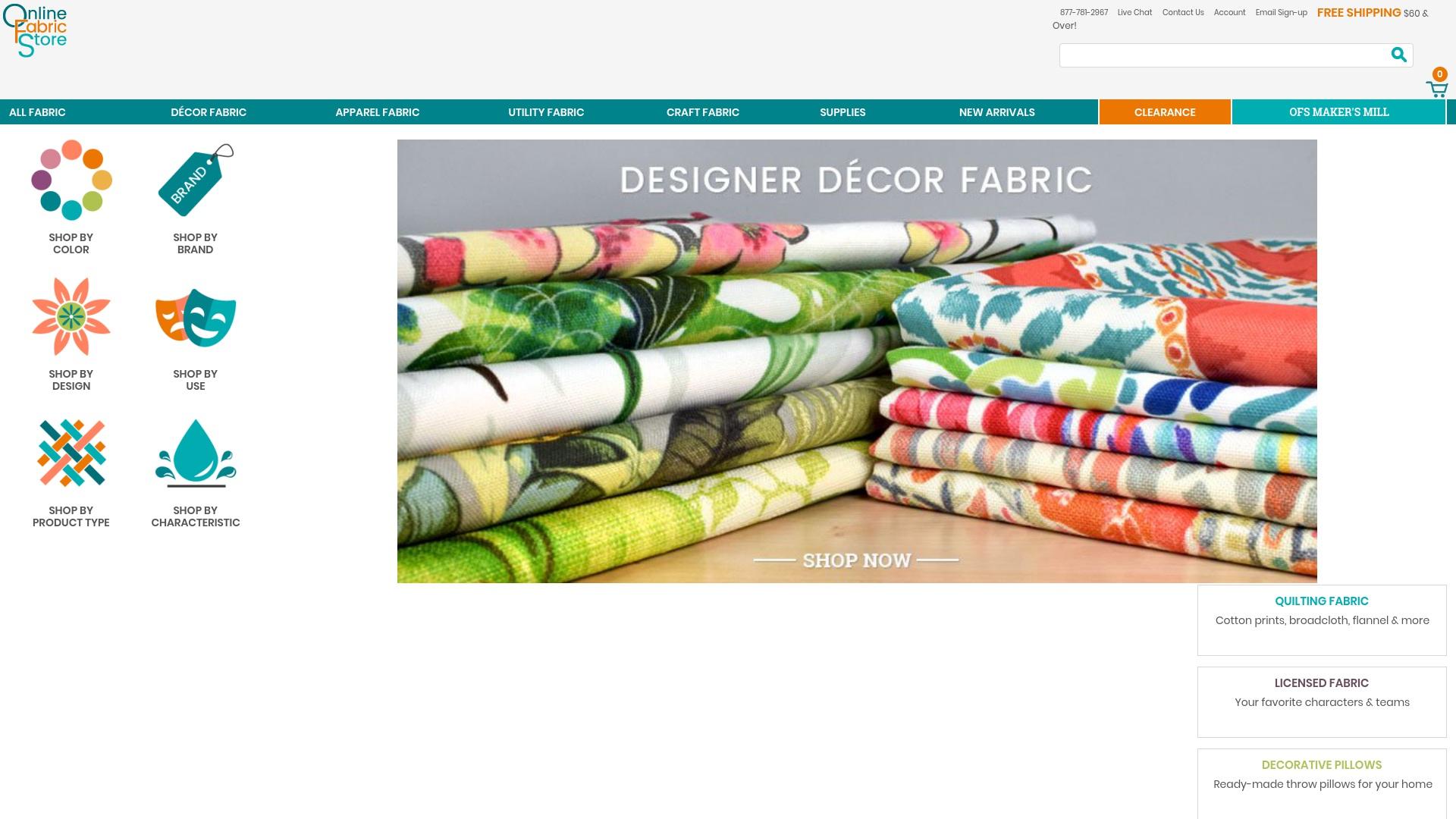 Gutschein für Onlinefabricstore: Rabatte für  Onlinefabricstore sichern