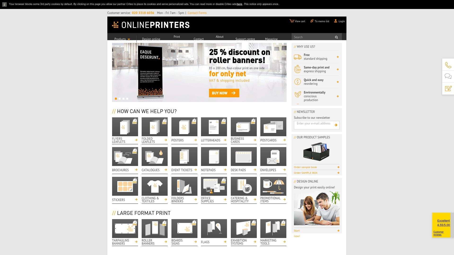 Gutschein für Onlineprinters: Rabatte für  Onlineprinters sichern