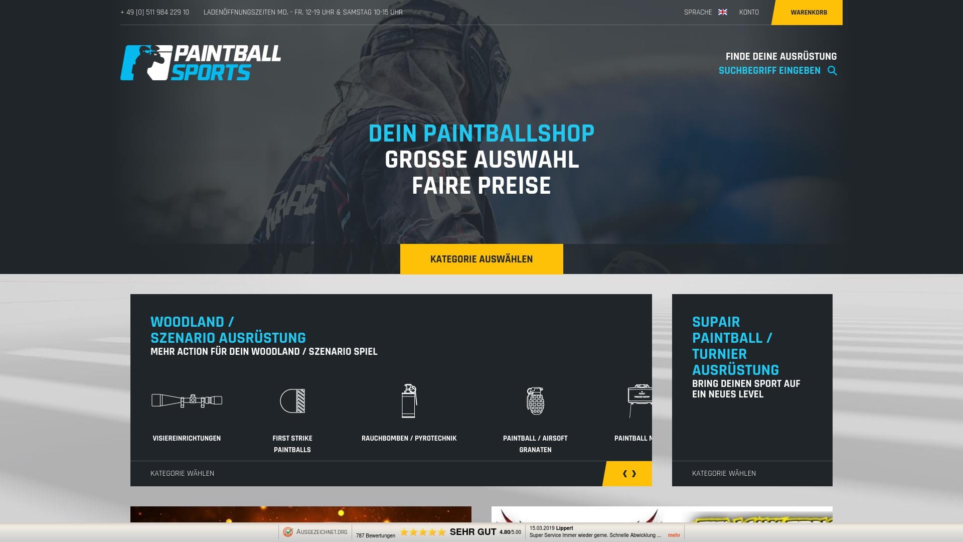 Gutschein für Paintballsports: Rabatte für  Paintballsports sichern