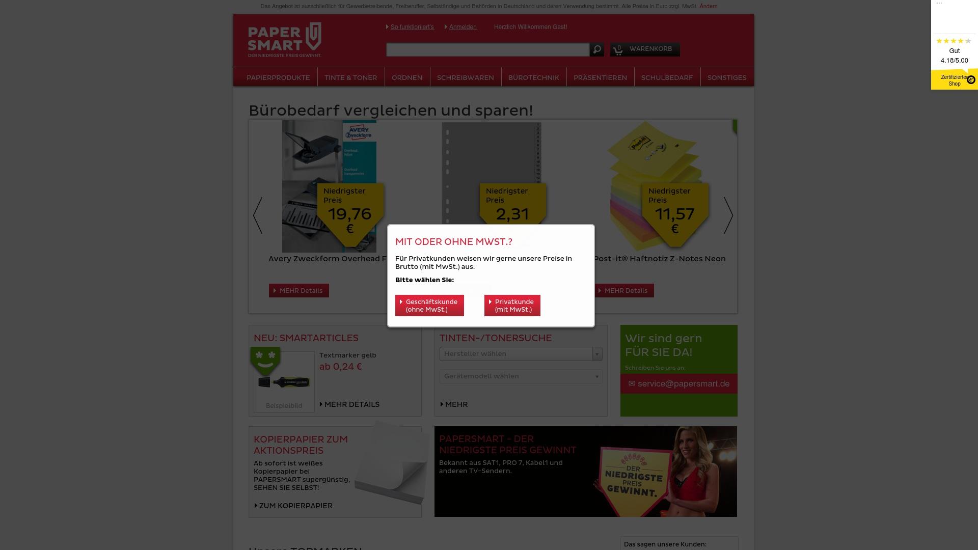 Gutschein für Papersmart: Rabatte für  Papersmart sichern