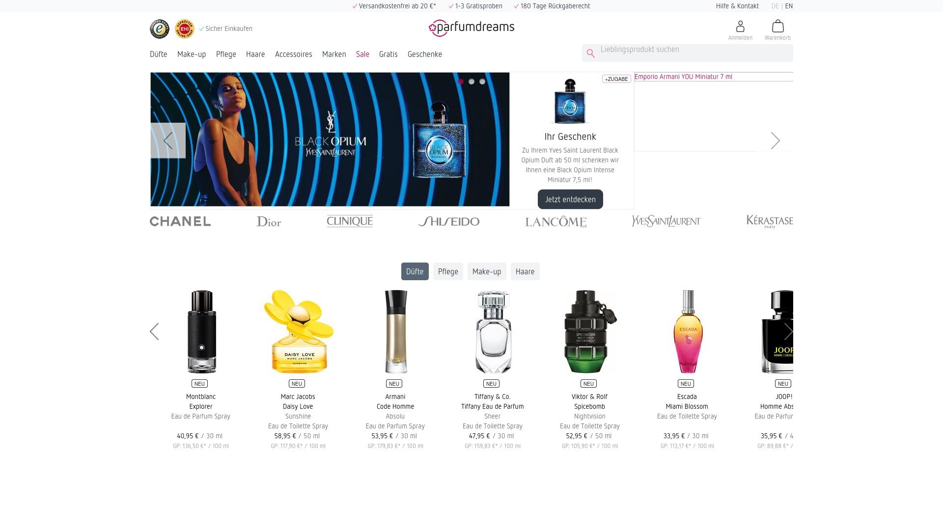 Gutschein für Parfumdreams: Rabatte für  Parfumdreams sichern