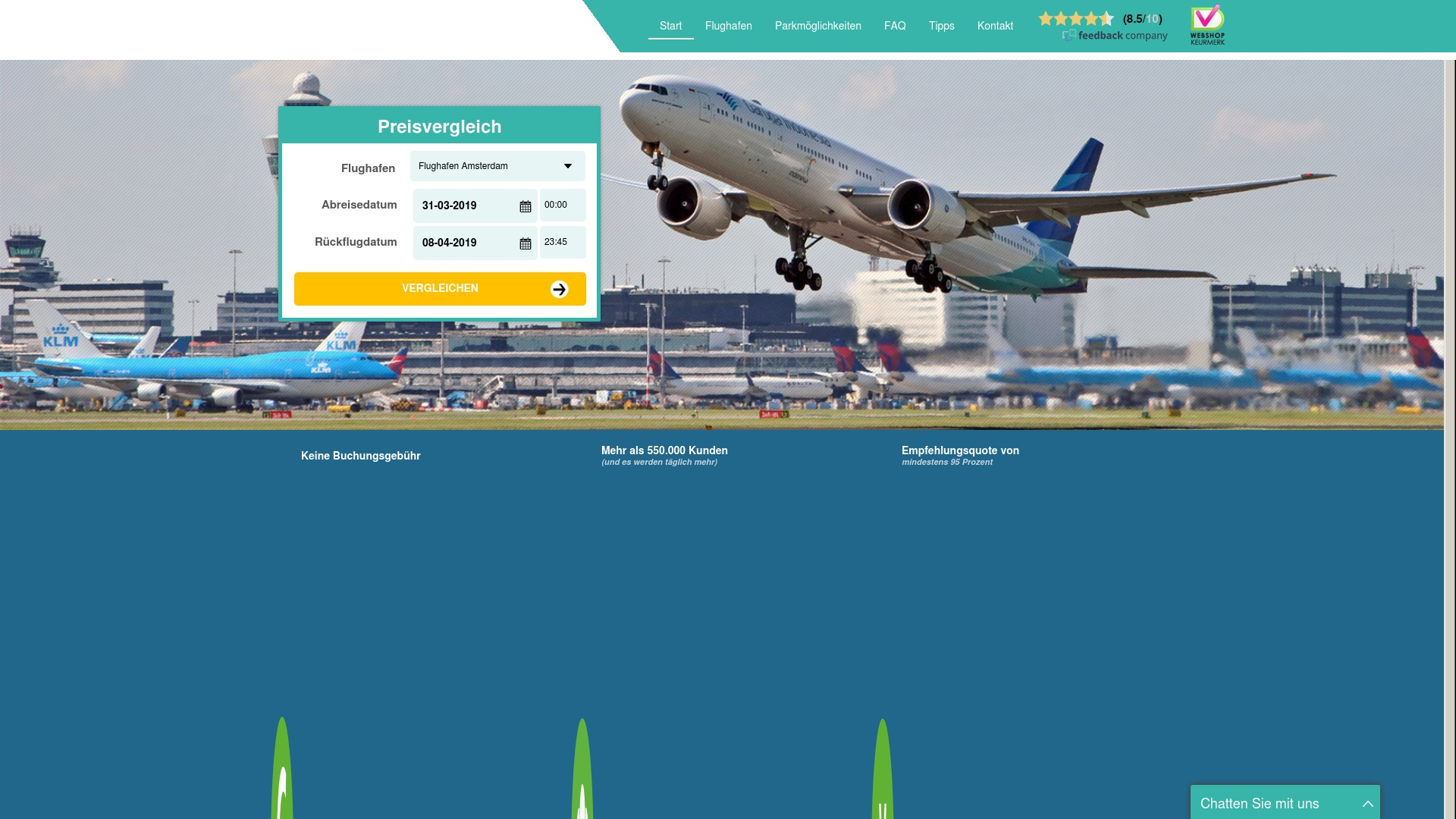 Gutschein für Parkenamflughafen: Rabatte für  Parkenamflughafen sichern