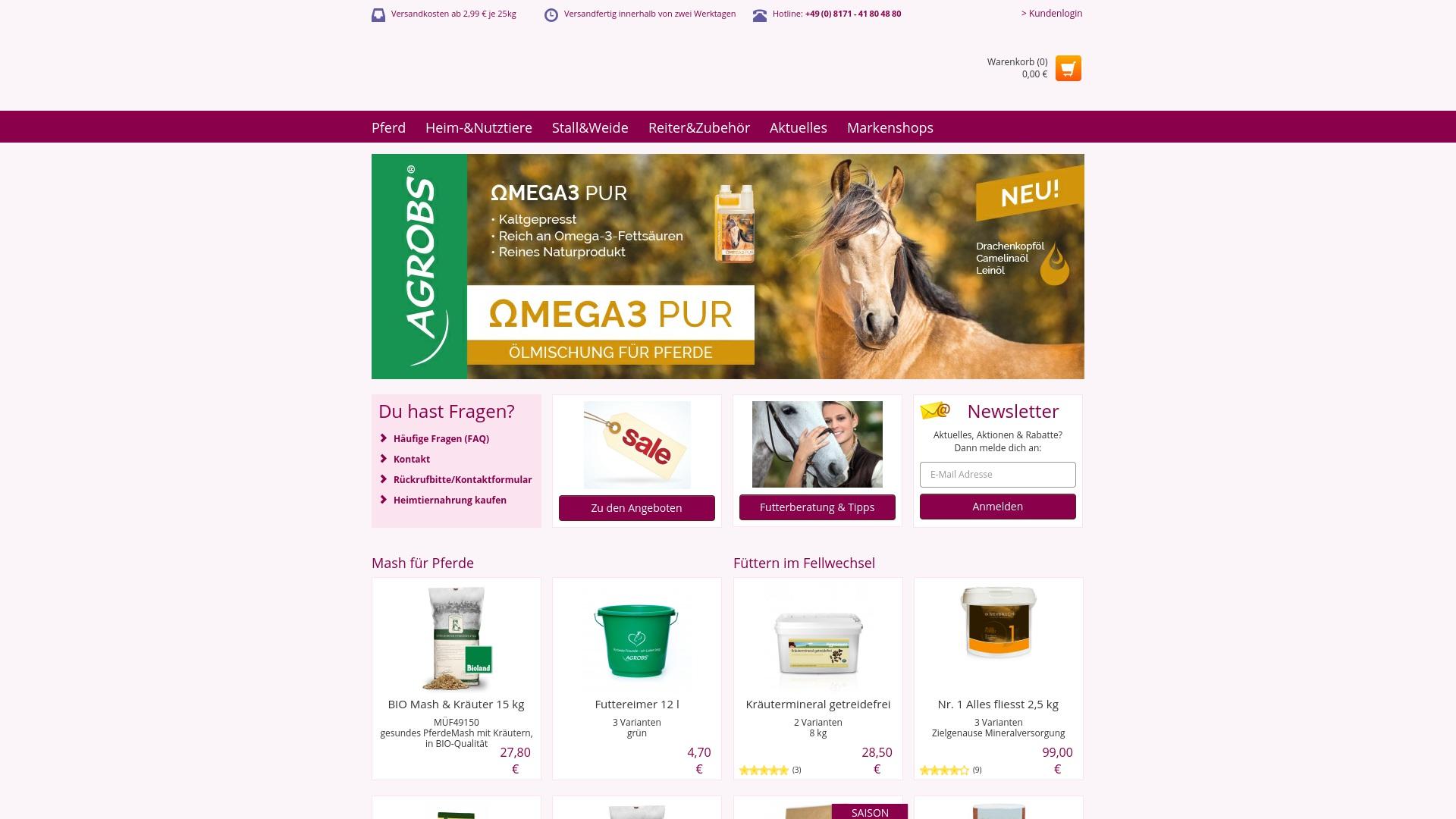 Gutschein für Pferdefutter: Rabatte für  Pferdefutter sichern