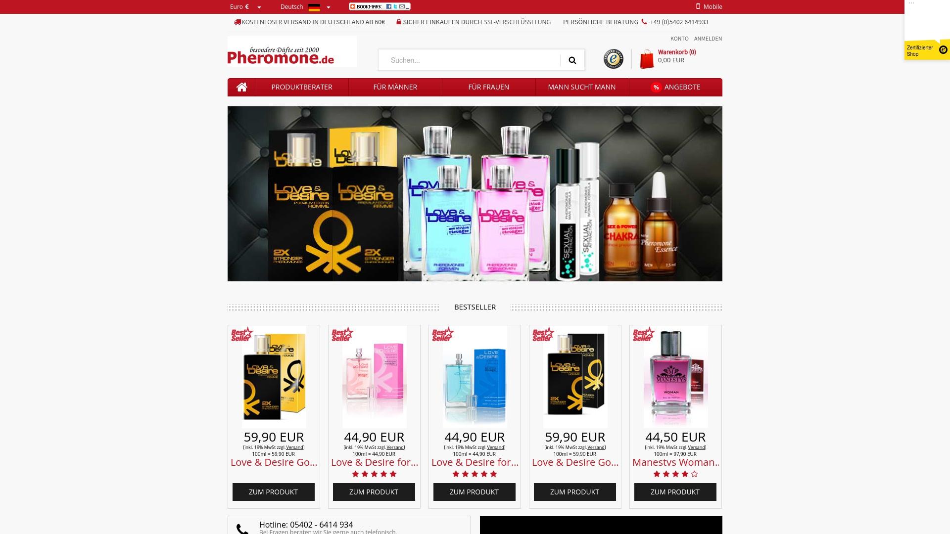 Gutschein für Pheromone: Rabatte für  Pheromone sichern