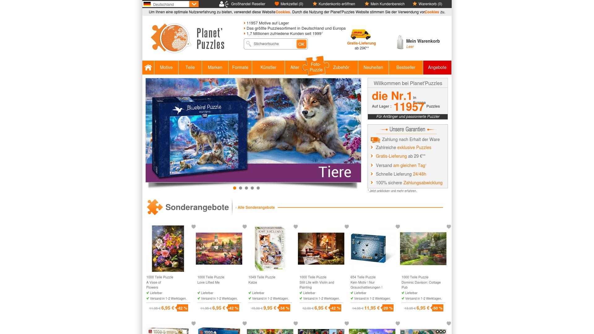 Gutschein für Planet-puzzles: Rabatte für  Planet-puzzles sichern