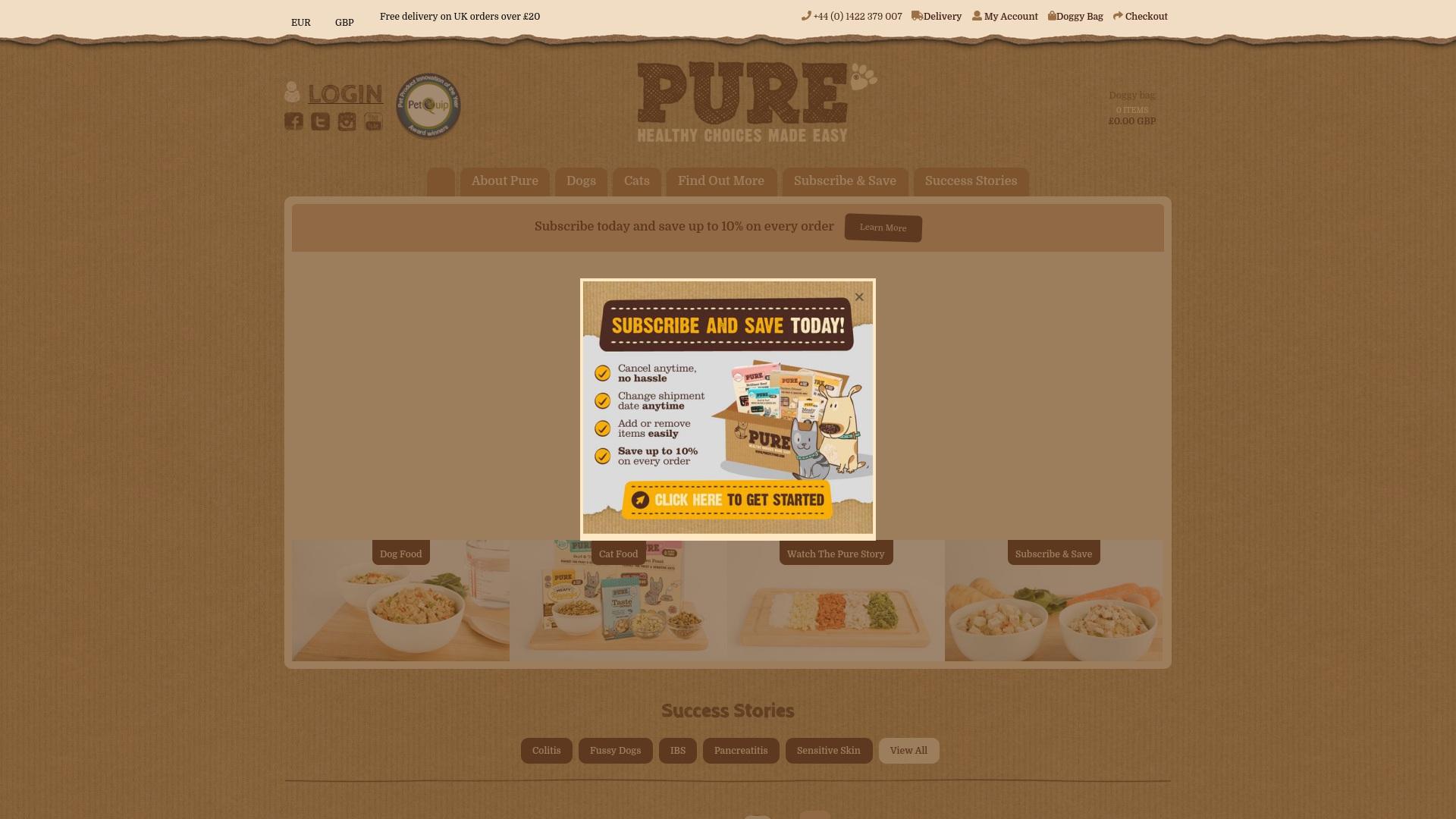 Gutschein für Purepetfood: Rabatte für  Purepetfood sichern