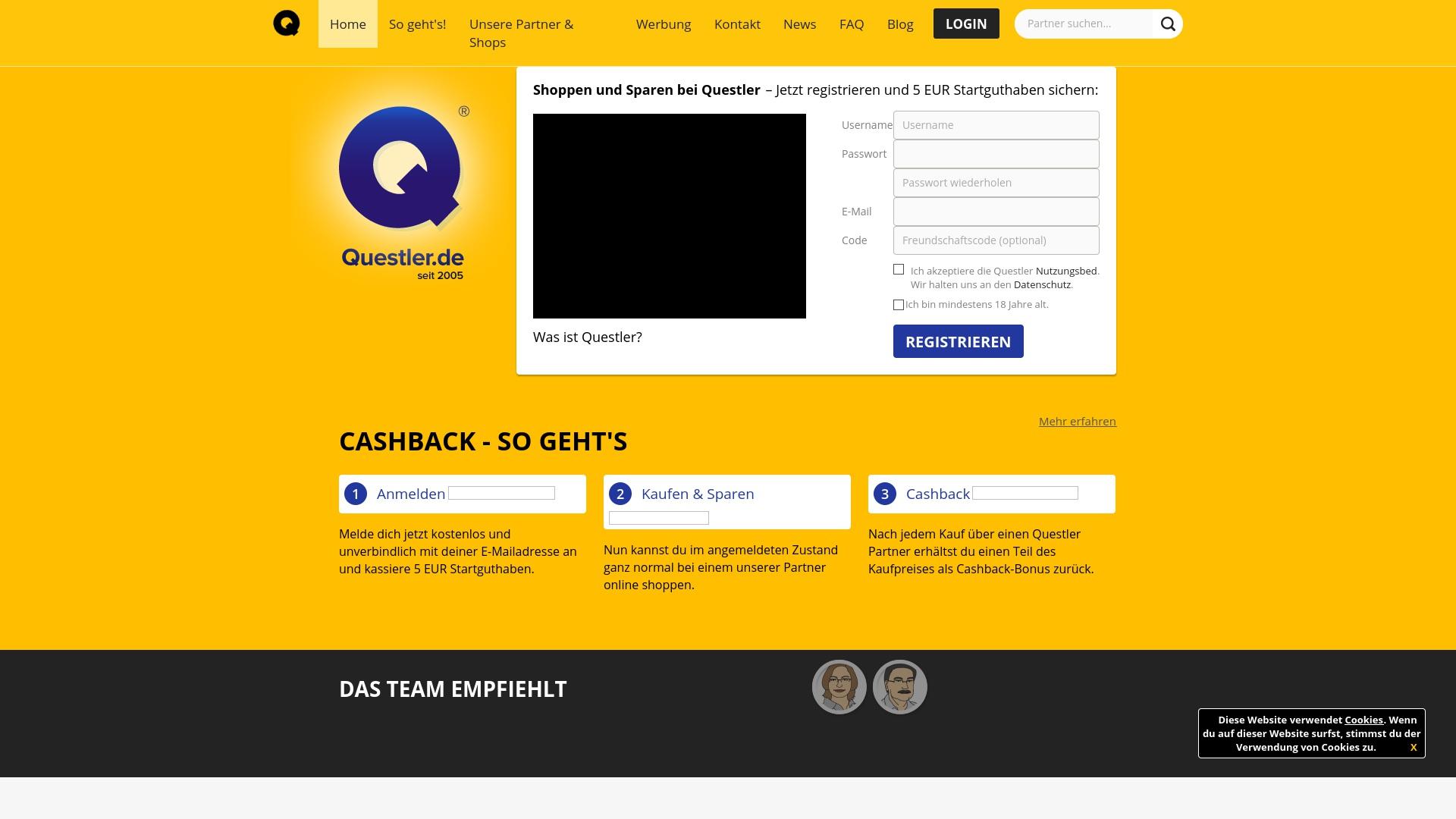 Gutschein für Questler: Rabatte für  Questler sichern