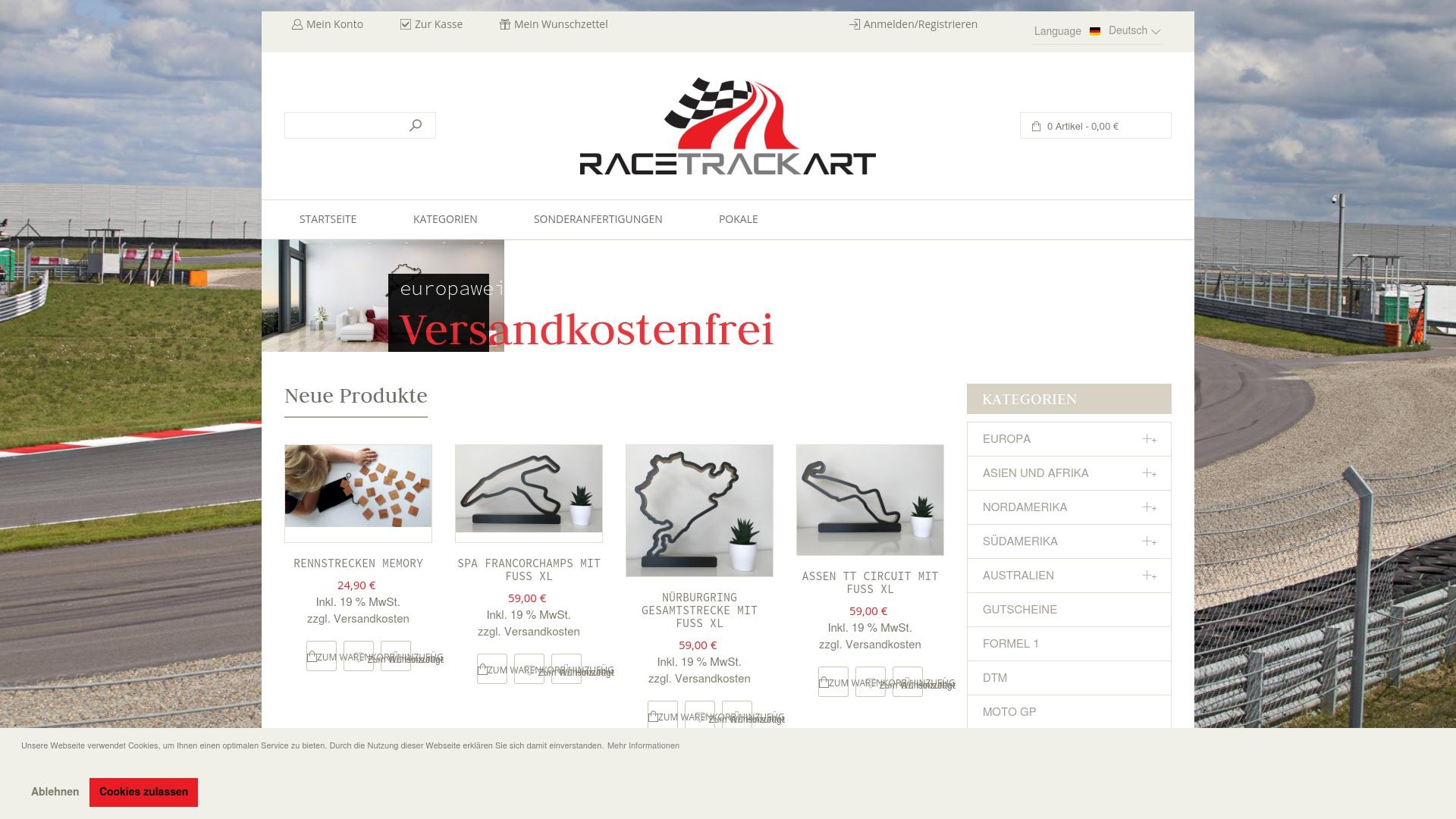 Gutschein für Racetrackart: Rabatte für  Racetrackart sichern