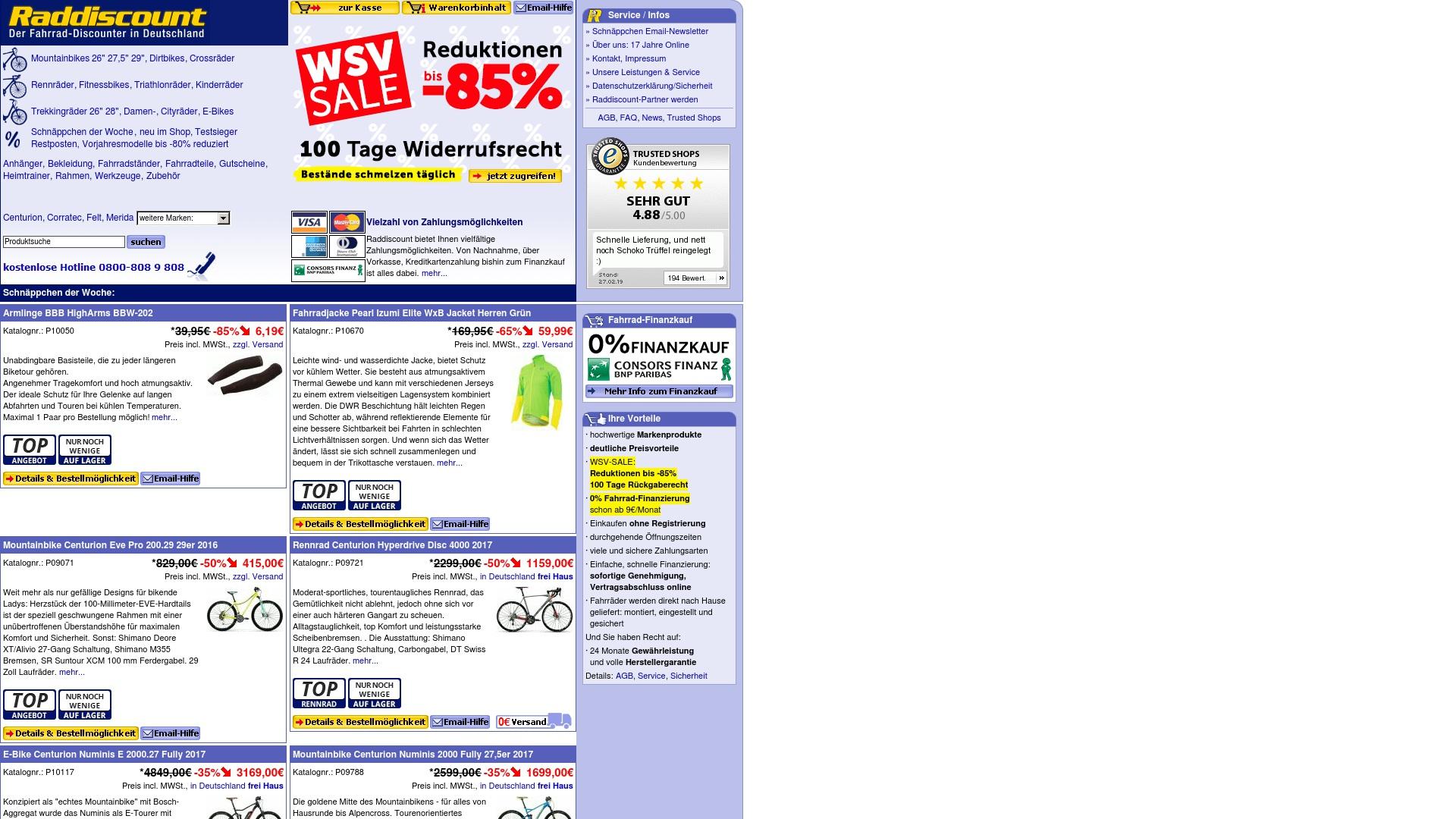 Gutschein für Raddiscount: Rabatte für  Raddiscount sichern
