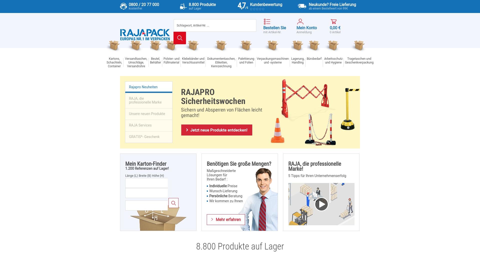 Gutschein für Rajapack: Rabatte für  Rajapack sichern