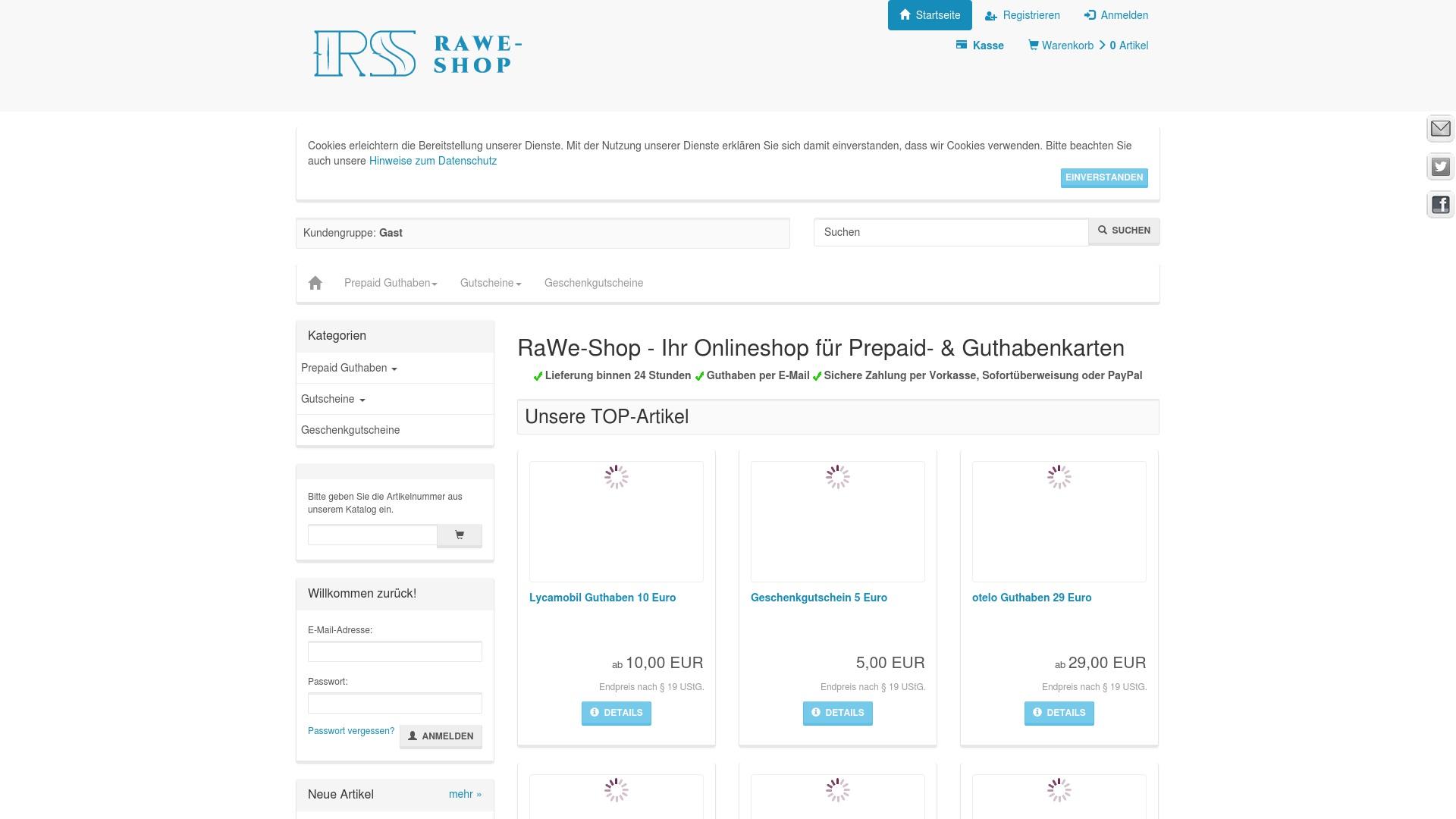 Gutschein für Rawe-internetstores: Rabatte für  Rawe-internetstores sichern