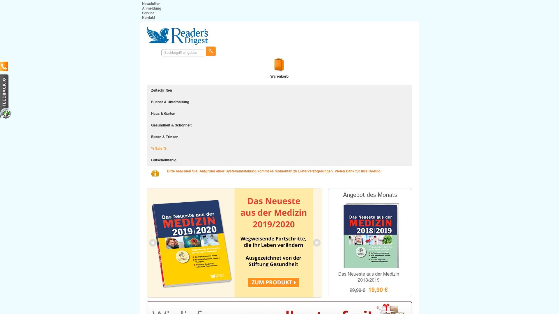 Gutschein für Readersdigest-shop: Rabatte für  Readersdigest-shop sichern