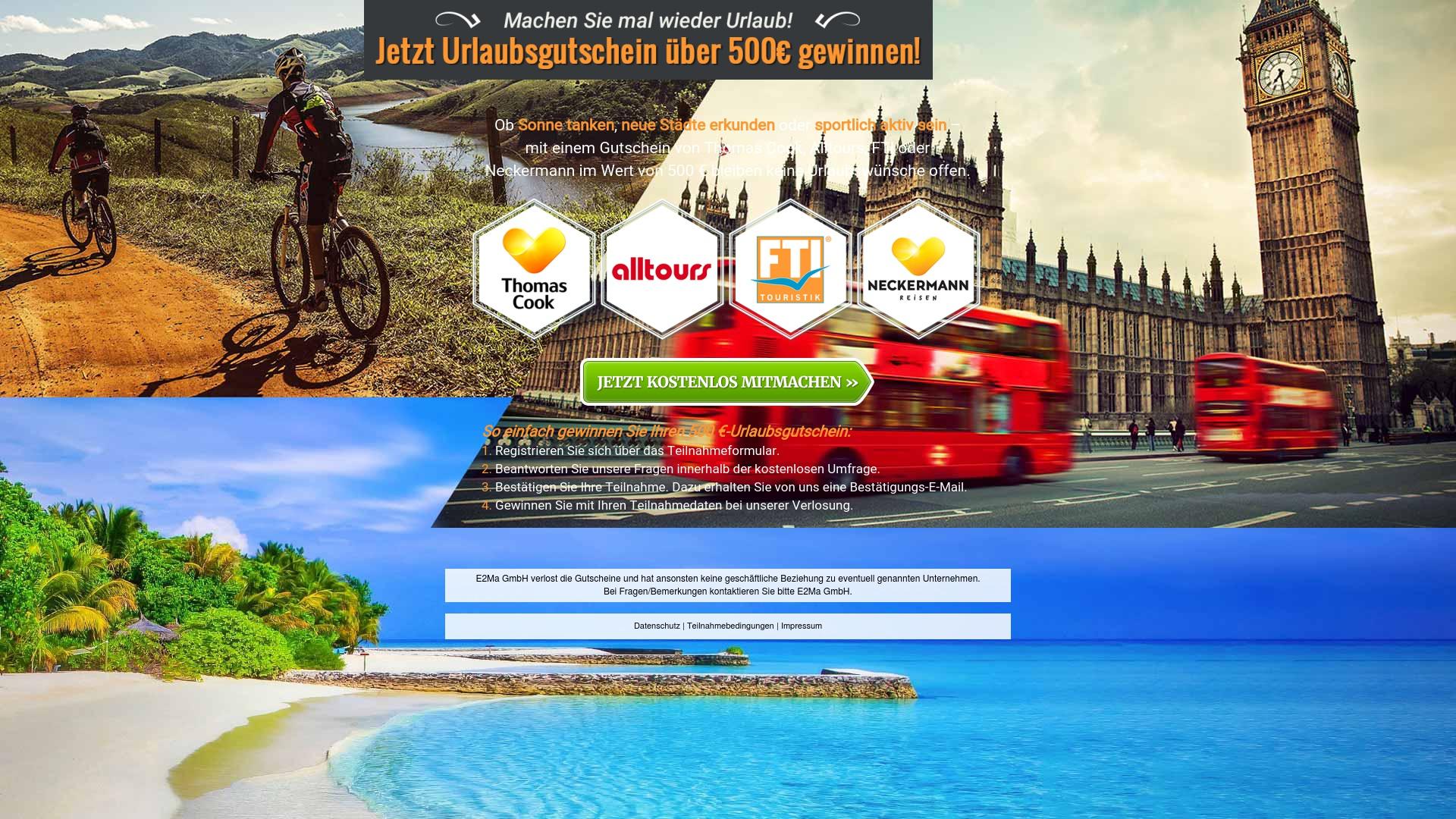 Gutschein für Reise-umfrage: Rabatte für  Reise-umfrage sichern
