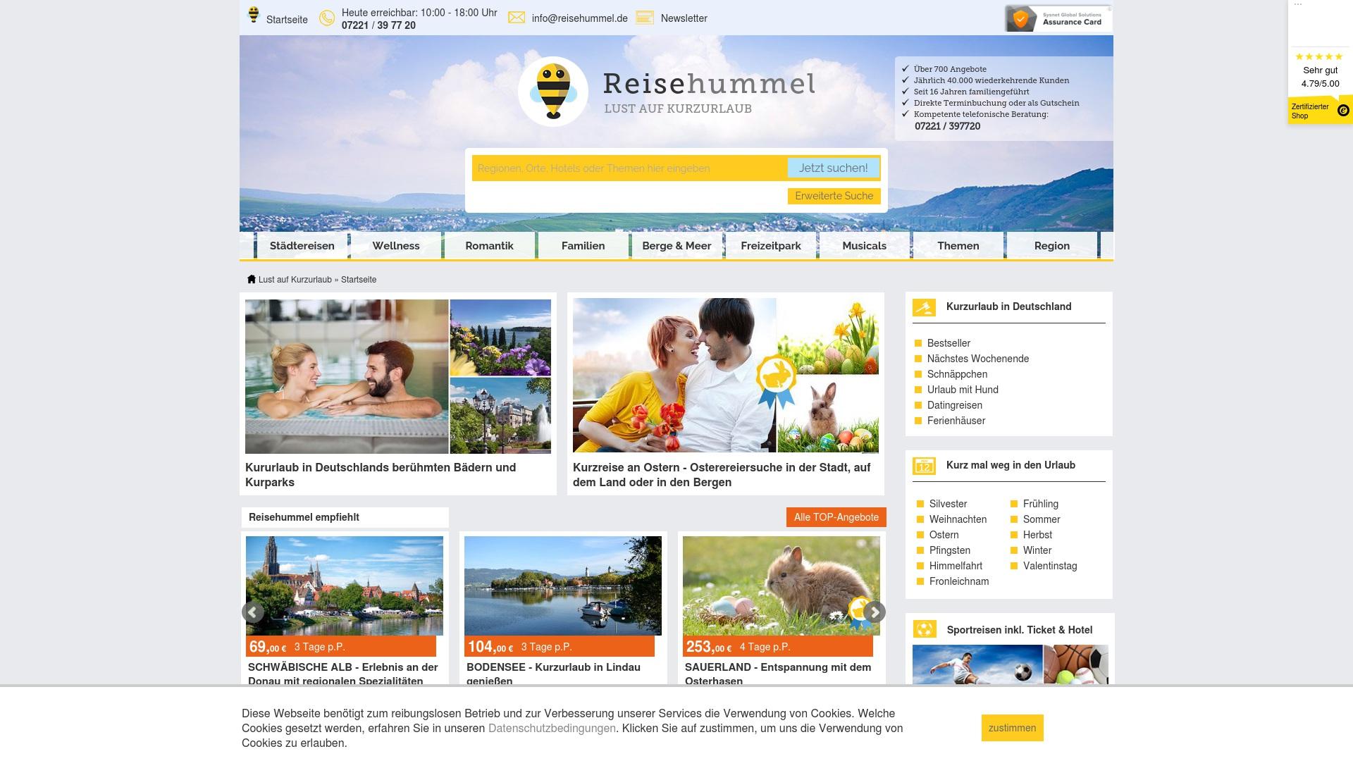 Gutschein für Reisehummel: Rabatte für  Reisehummel sichern