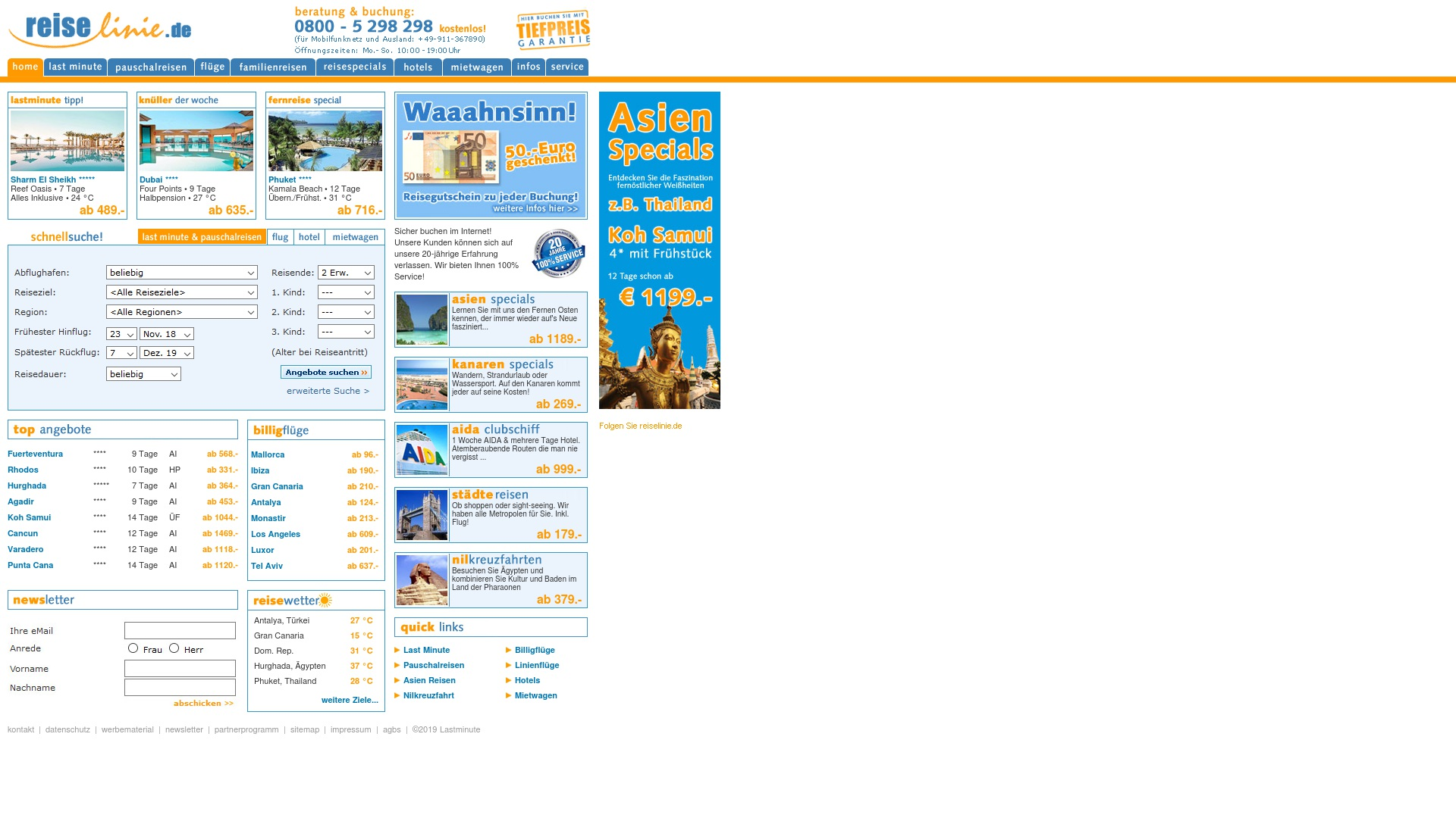 Gutschein für Reiselinie: Rabatte für  Reiselinie sichern