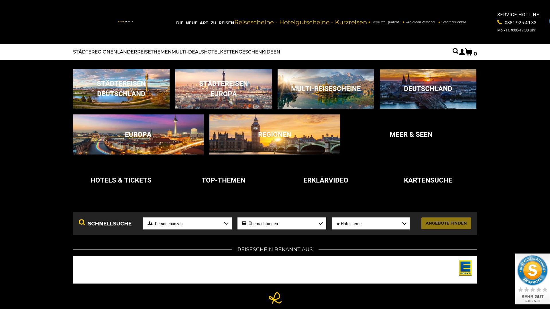 Gutschein für Reiseschein: Rabatte für  Reiseschein sichern