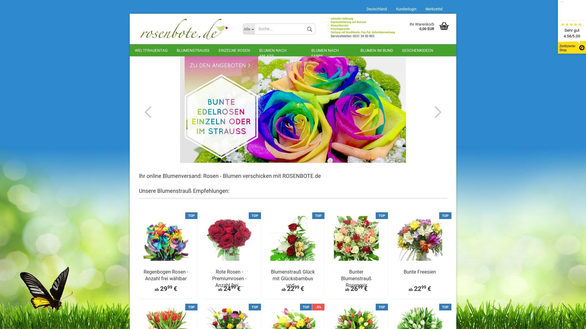 Gutschein für Rosenbote: Rabatte für  Rosenbote sichern