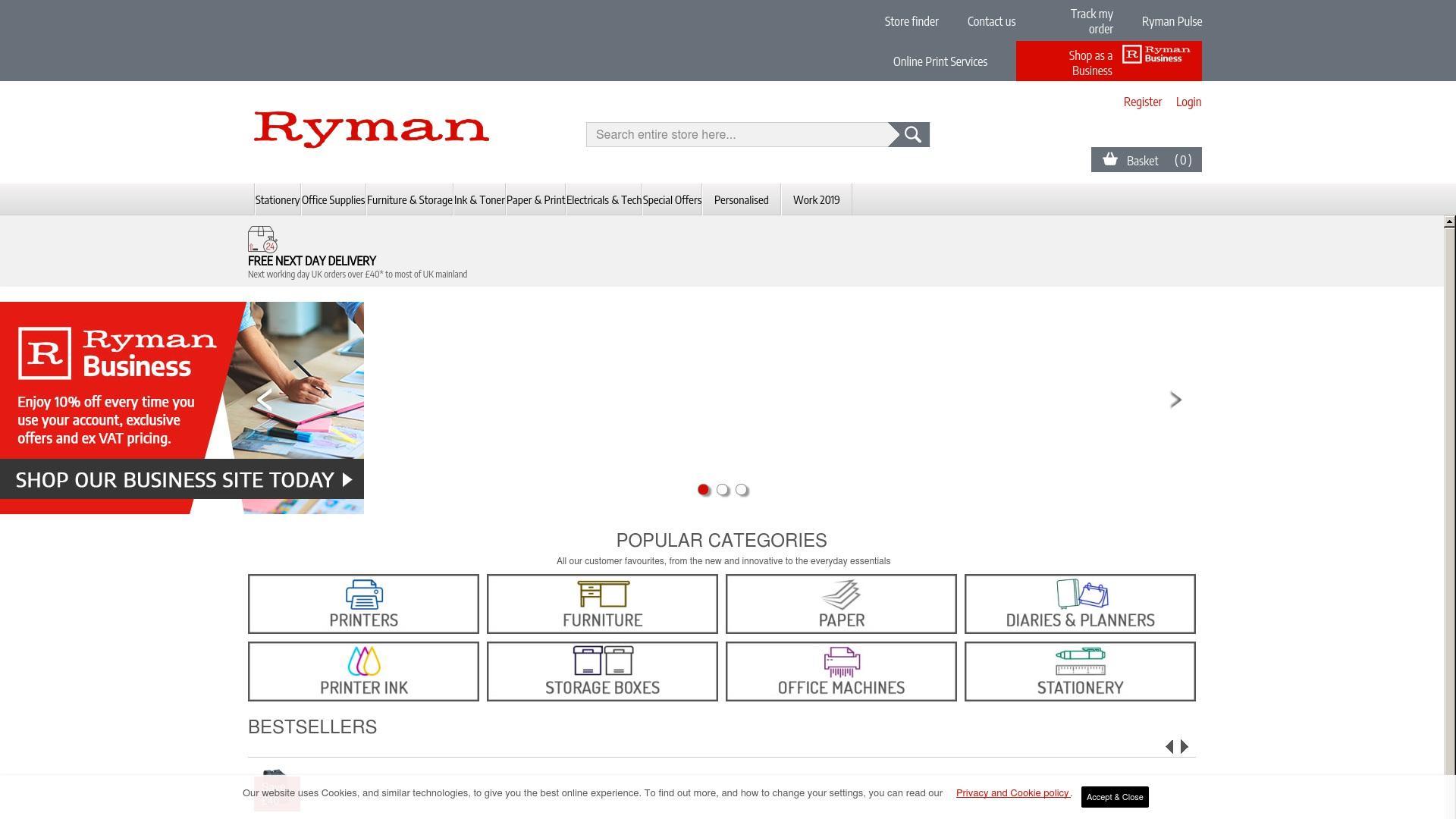 Gutschein für Ryman: Rabatte für  Ryman sichern