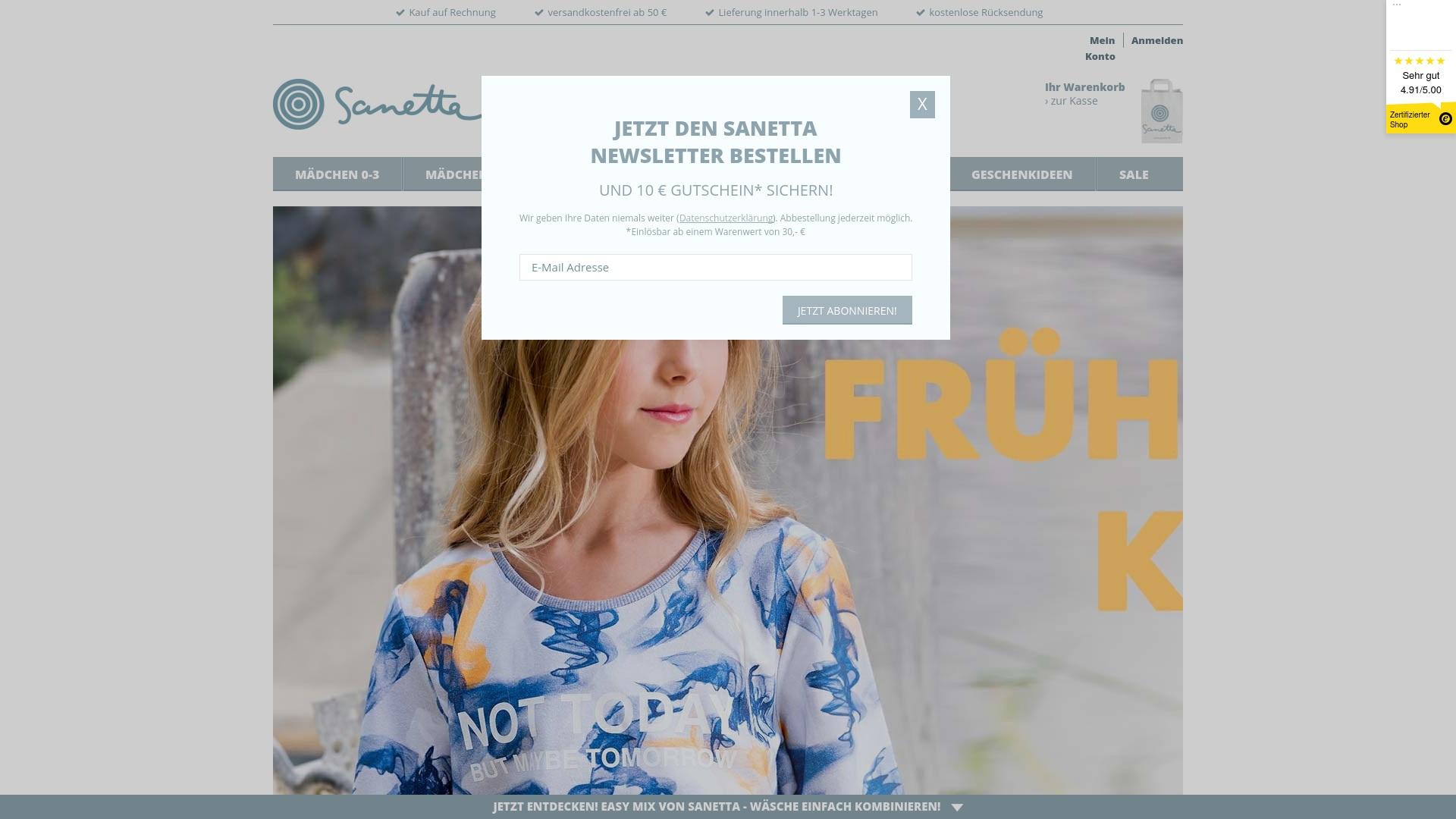 Gutschein für Sanetta: Rabatte für  Sanetta sichern