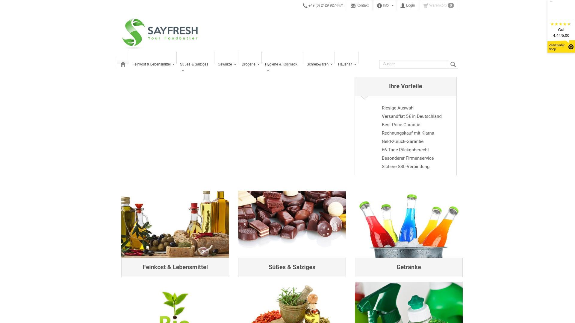 Gutschein für Sayfresh: Rabatte für  Sayfresh sichern