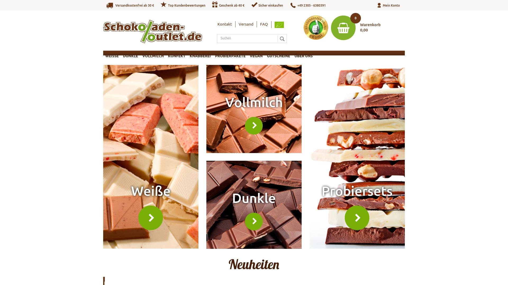 Gutschein für Schokoladen-outlet: Rabatte für  Schokoladen-outlet sichern