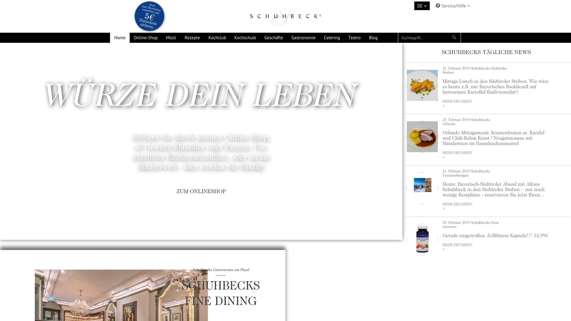 Gutschein für Schuhbeck: Rabatte für  Schuhbeck sichern