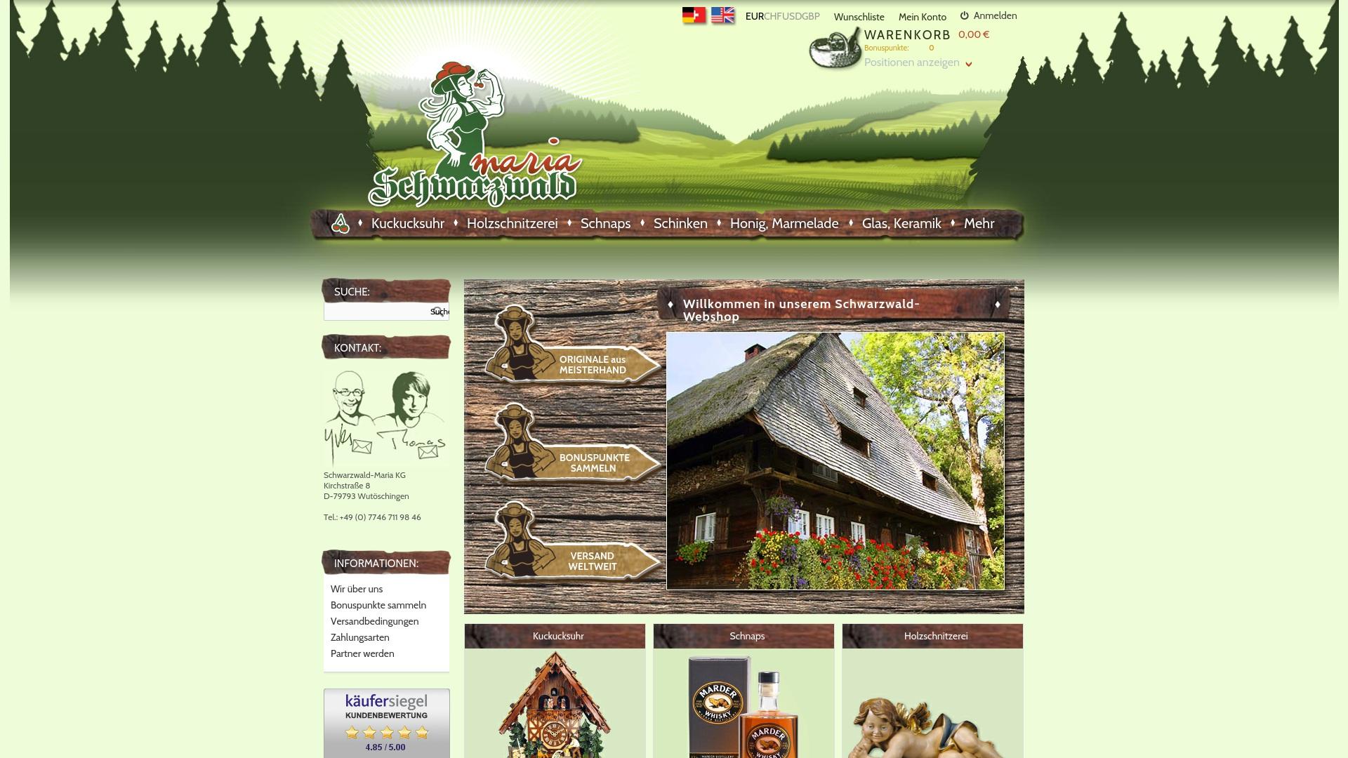 Gutschein für Schwarzwald-maria: Rabatte für  Schwarzwald-maria sichern