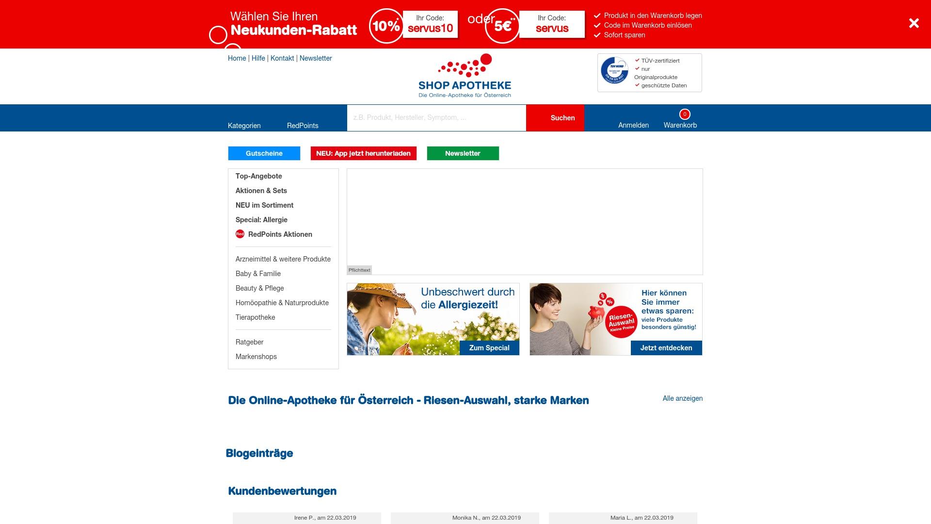 Gutschein für Shop-apotheke: Rabatte für  Shop-apotheke sichern
