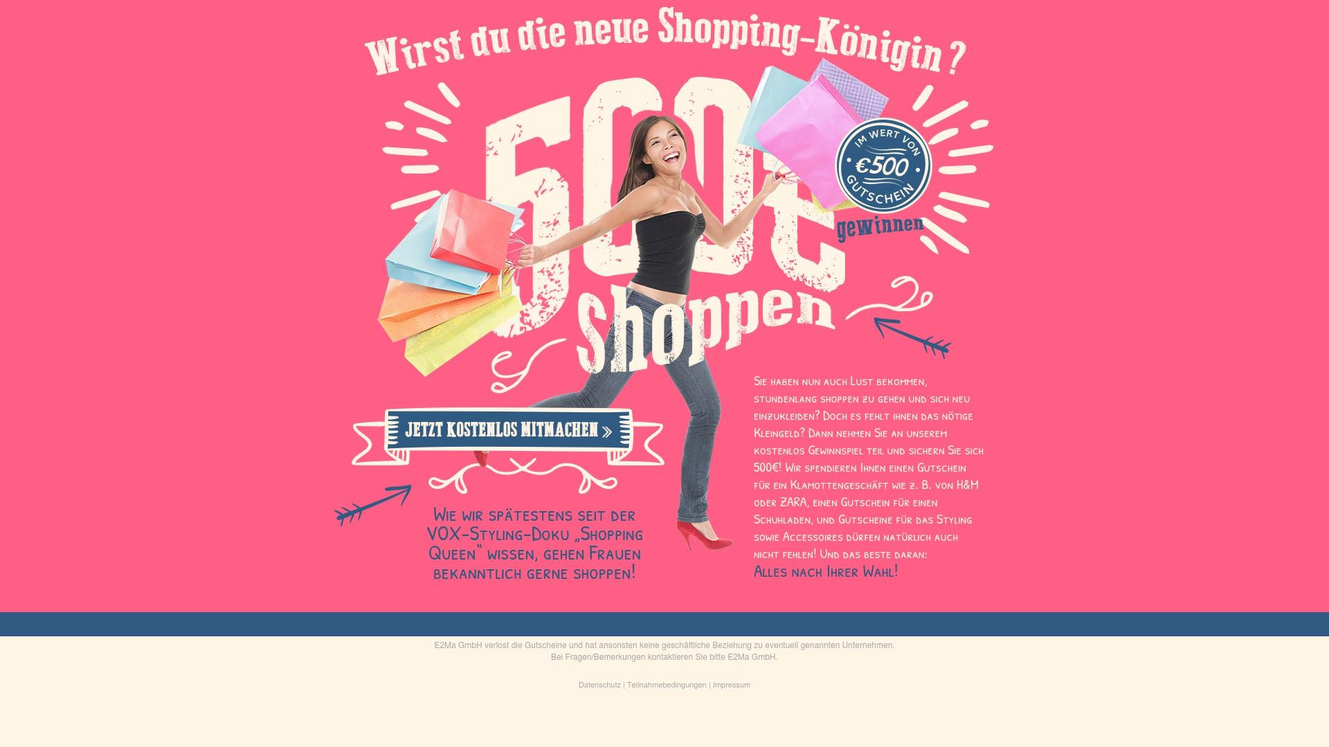 Gutschein für Shopping-gratis: Rabatte für  Shopping-gratis sichern
