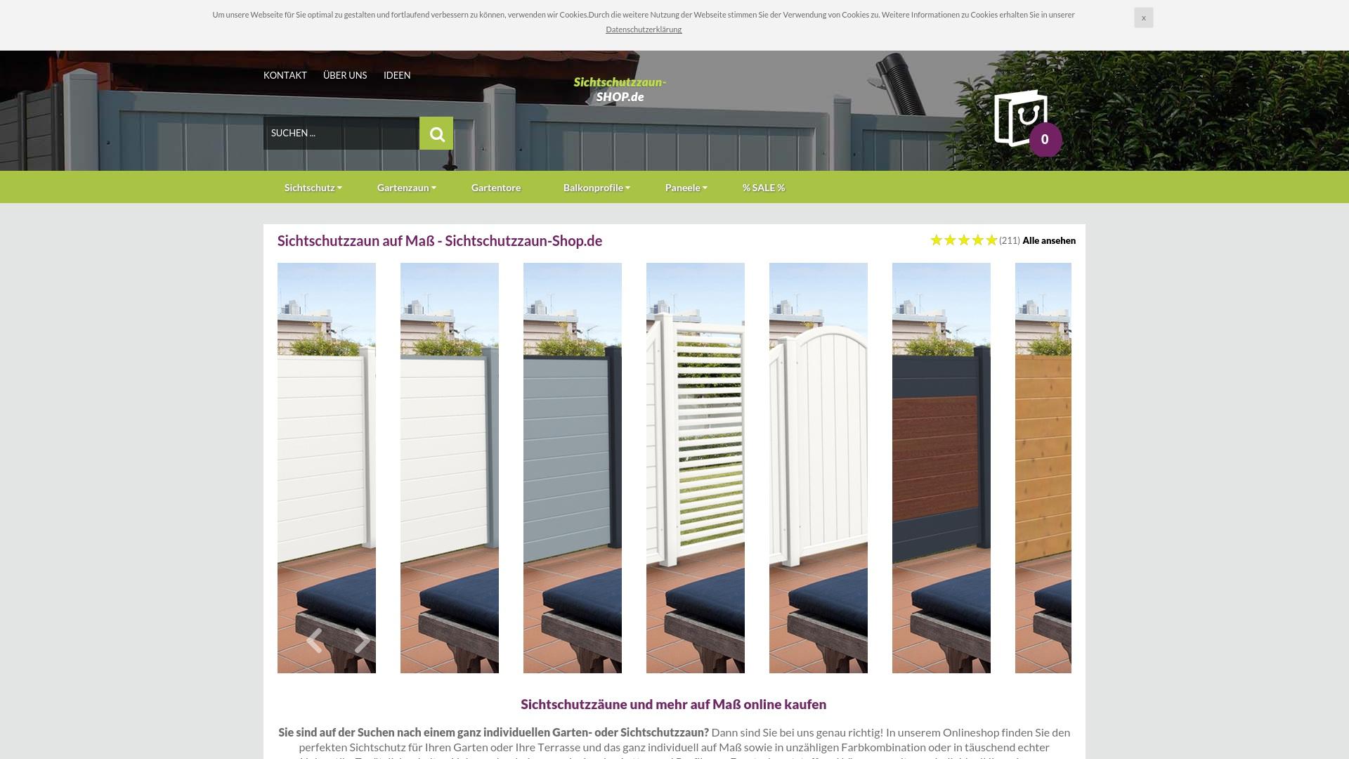Gutschein für Sichtschutzzaun-shop: Rabatte für  Sichtschutzzaun-shop sichern