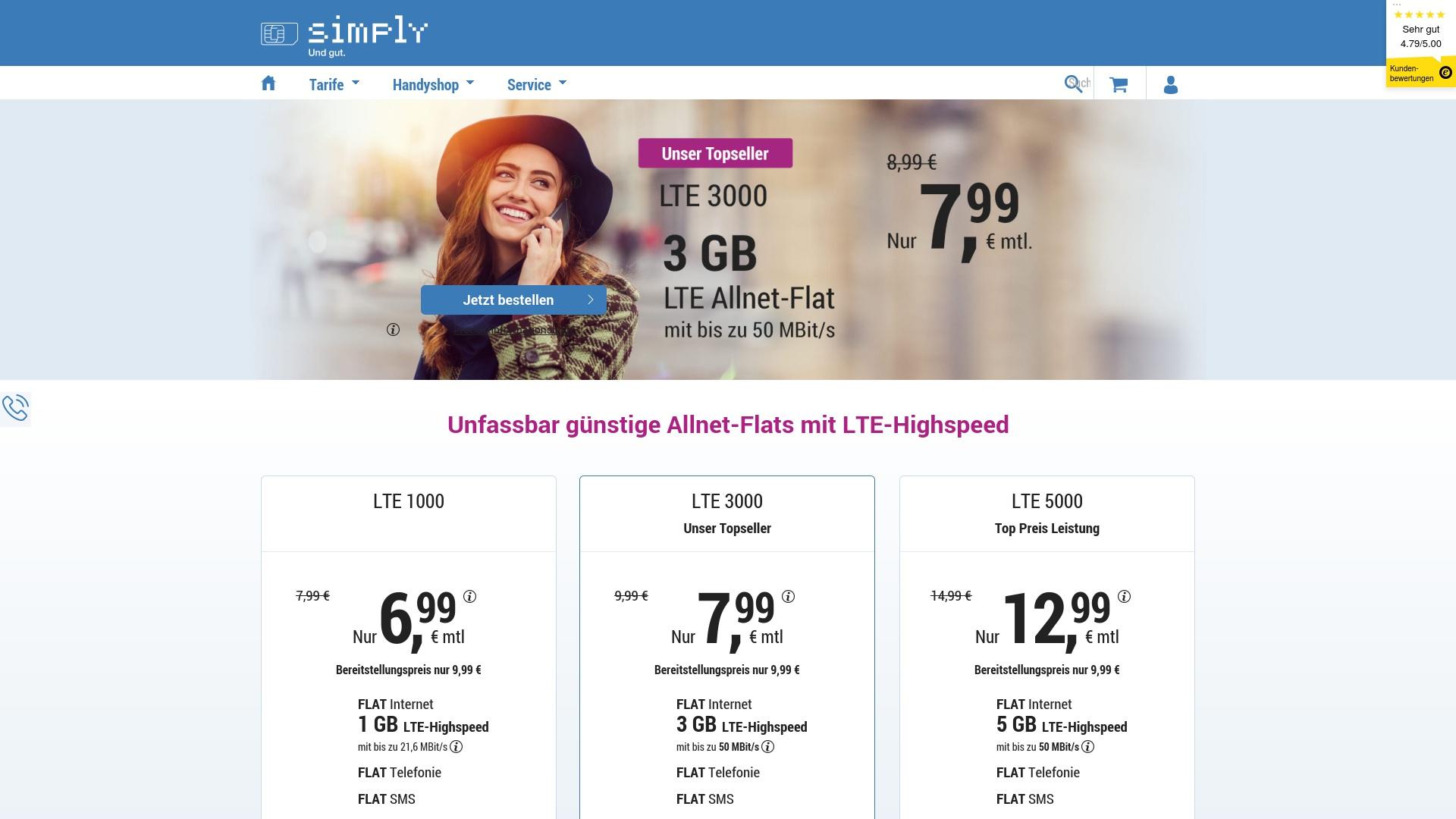 Gutschein für Simplytel: Rabatte für  Simplytel sichern