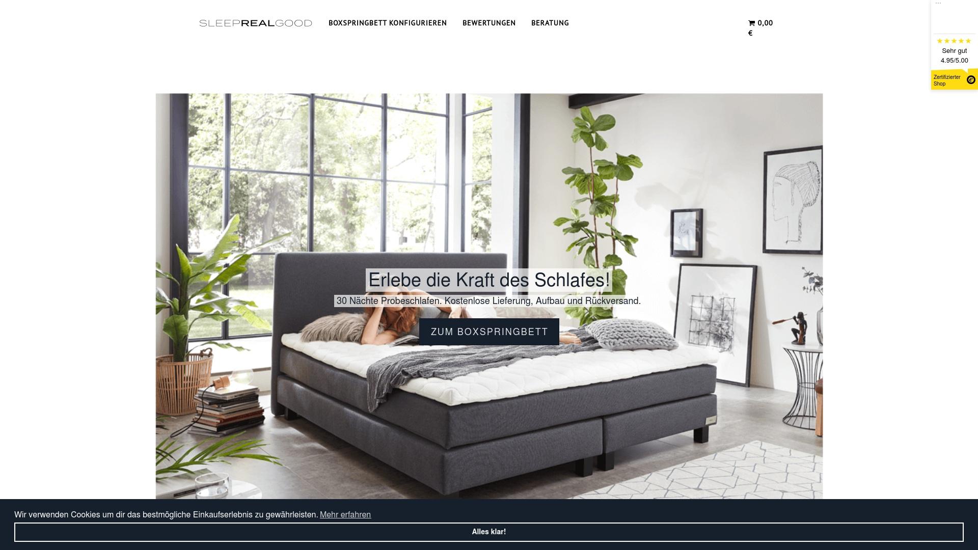 Gutschein für Sleeprealgood: Rabatte für  Sleeprealgood sichern