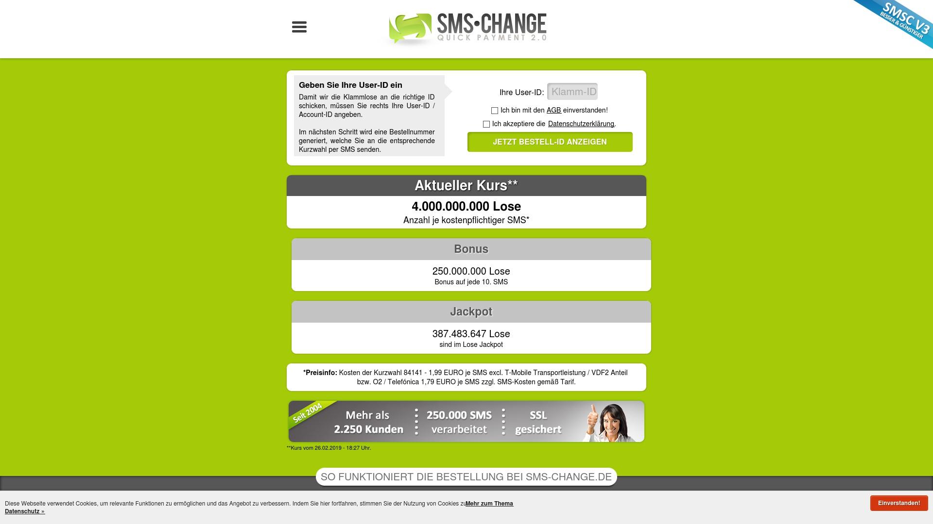 Gutschein für Sms-change: Rabatte für  Sms-change sichern