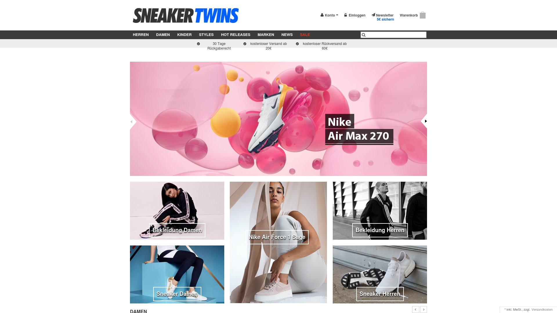 Gutschein für Sneakertwins: Rabatte für  Sneakertwins sichern