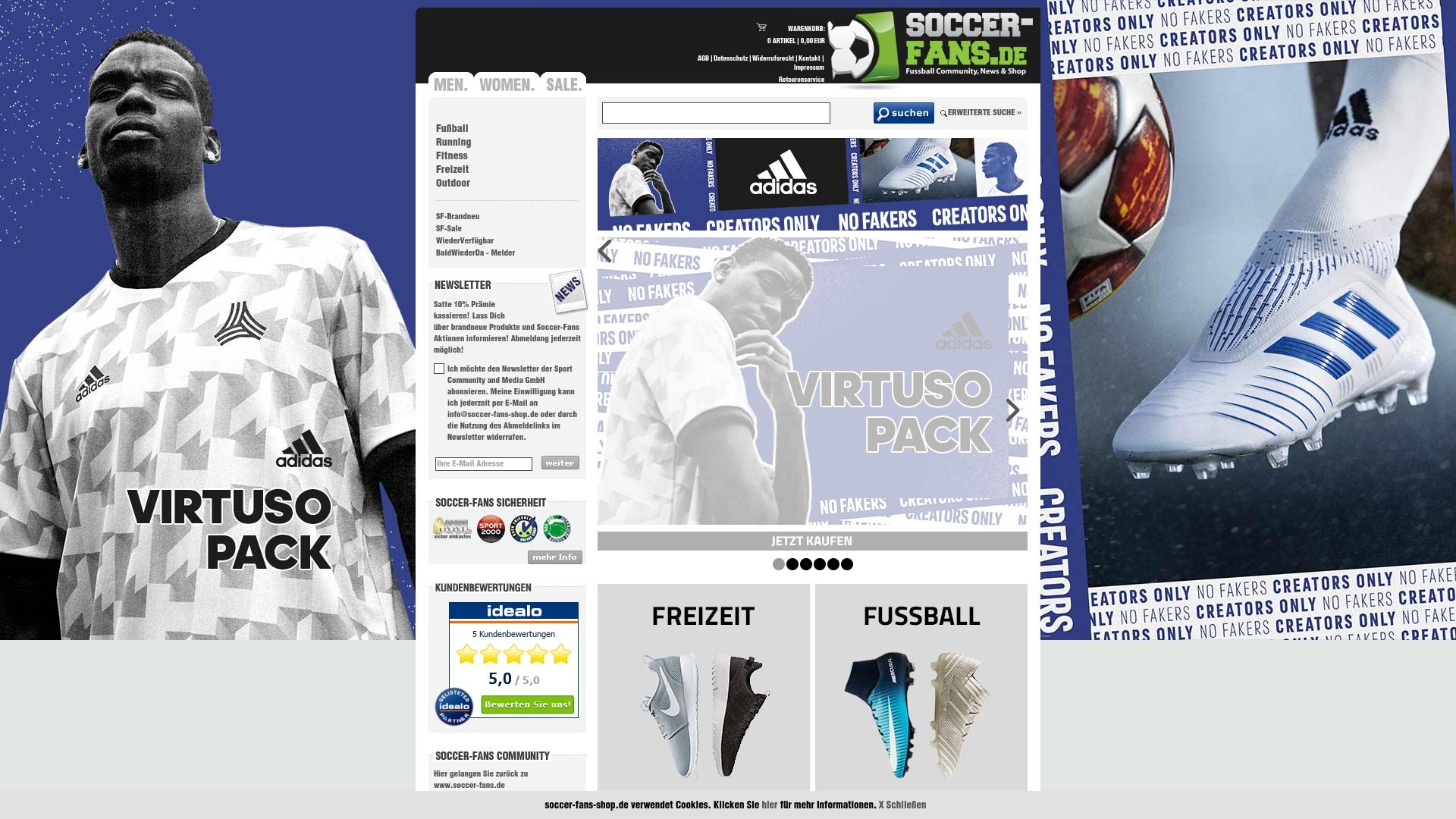 Gutschein für Soccer-fans-shop: Rabatte für  Soccer-fans-shop sichern