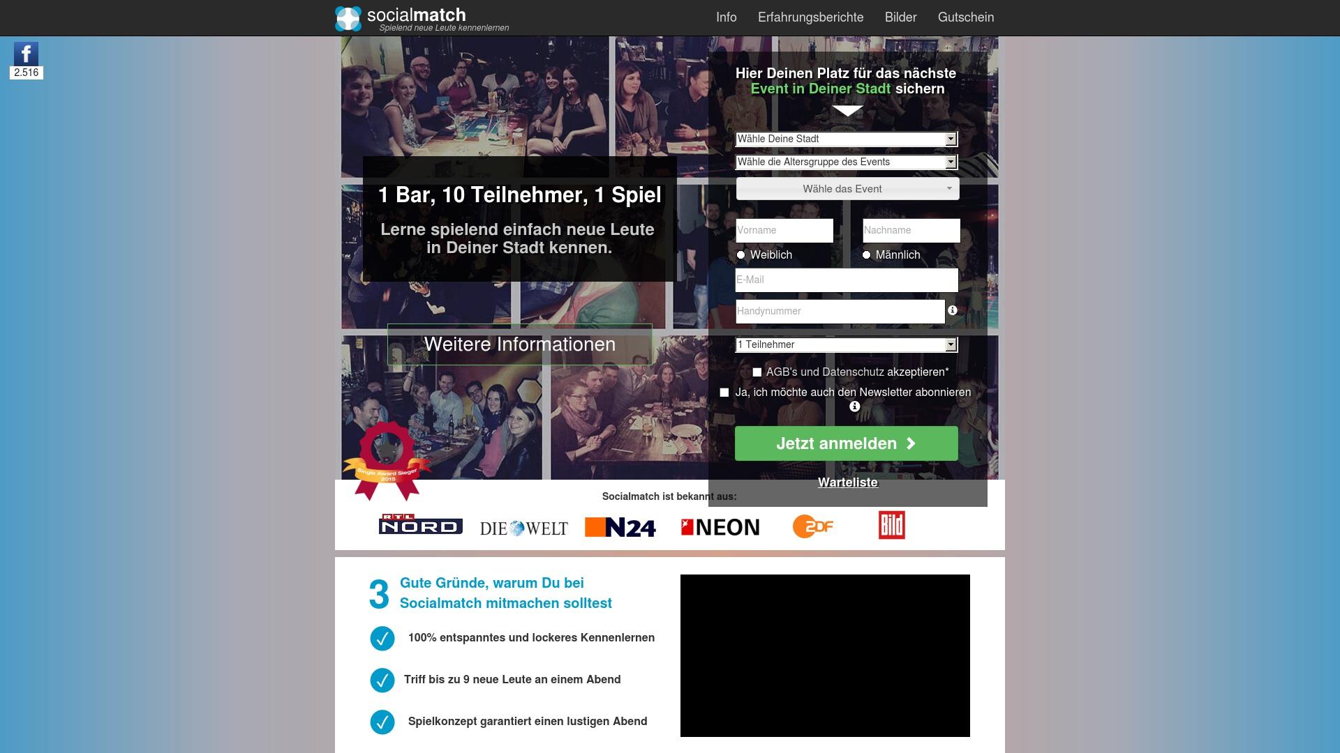 Gutschein für Socialmatch: Rabatte für  Socialmatch sichern