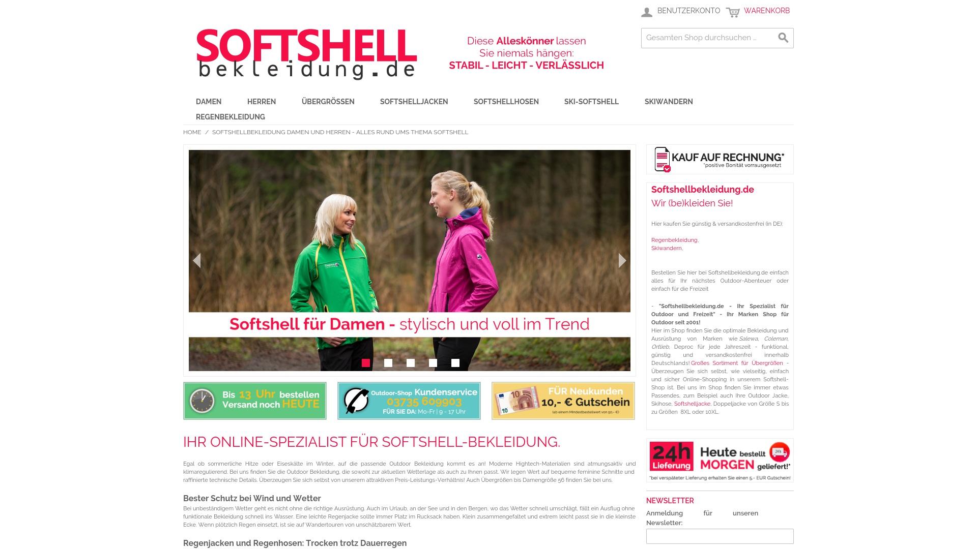 Gutschein für Softshellbekleidung: Rabatte für  Softshellbekleidung sichern