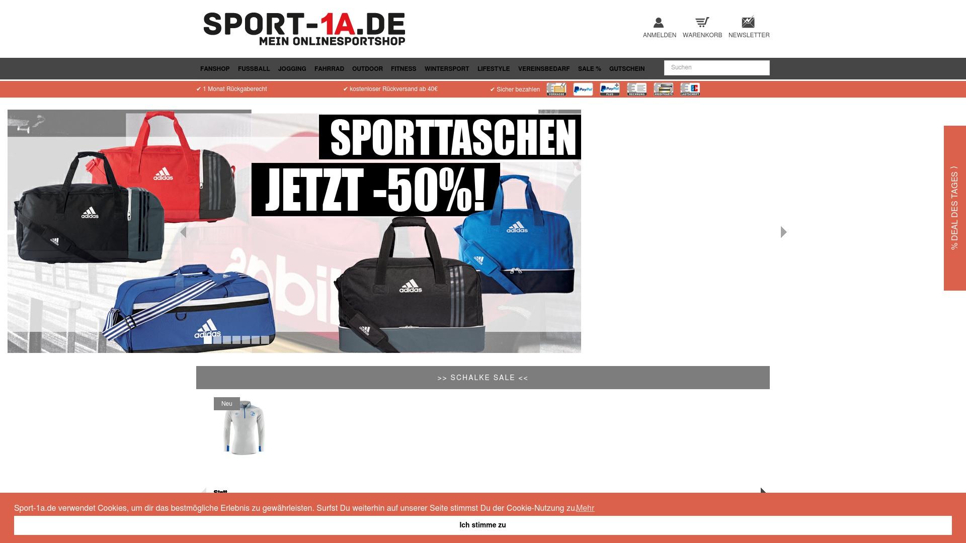 Gutschein für Sport-1a: Rabatte für  Sport-1a sichern