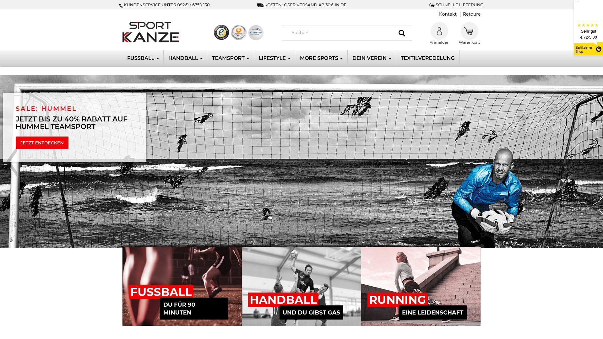 Gutschein für Sport-kanze: Rabatte für  Sport-kanze sichern